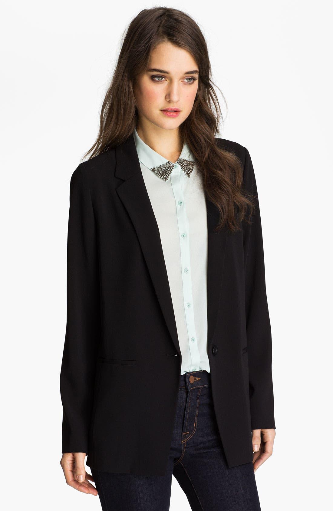 Main Image - Trouvé One-Button Menswear Blazer