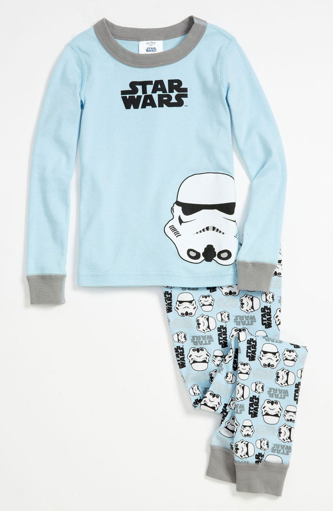 Alternate Image 1 Selected - Hanna Andersson 'Stormtrooper' Two Piece Fitted Organic Cotton Pajamas (Toddler)