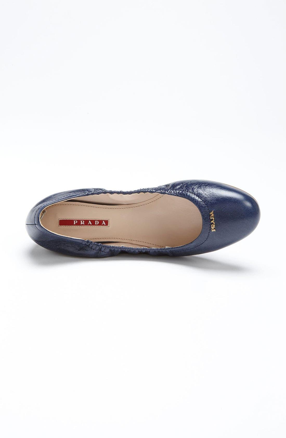 Alternate Image 3  - Prada Logo Ballet Flat