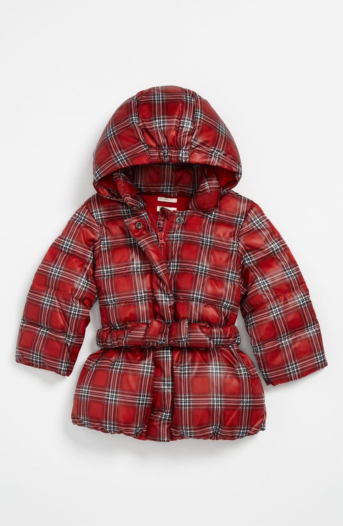 Main Image - United Colors of Benetton Kids Plaid Puffer Coat (Infant)
