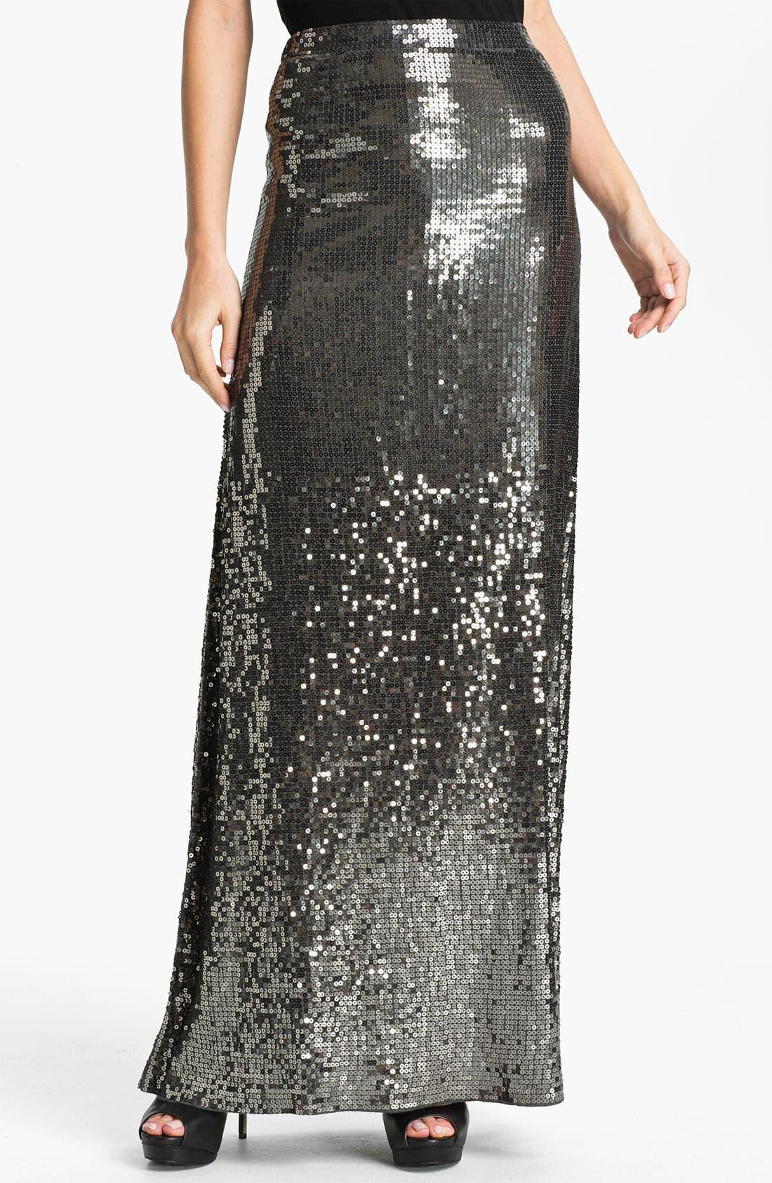 Alternate Image 1 Selected - MICHAEL Michael Kors Sequin Maxi Skirt