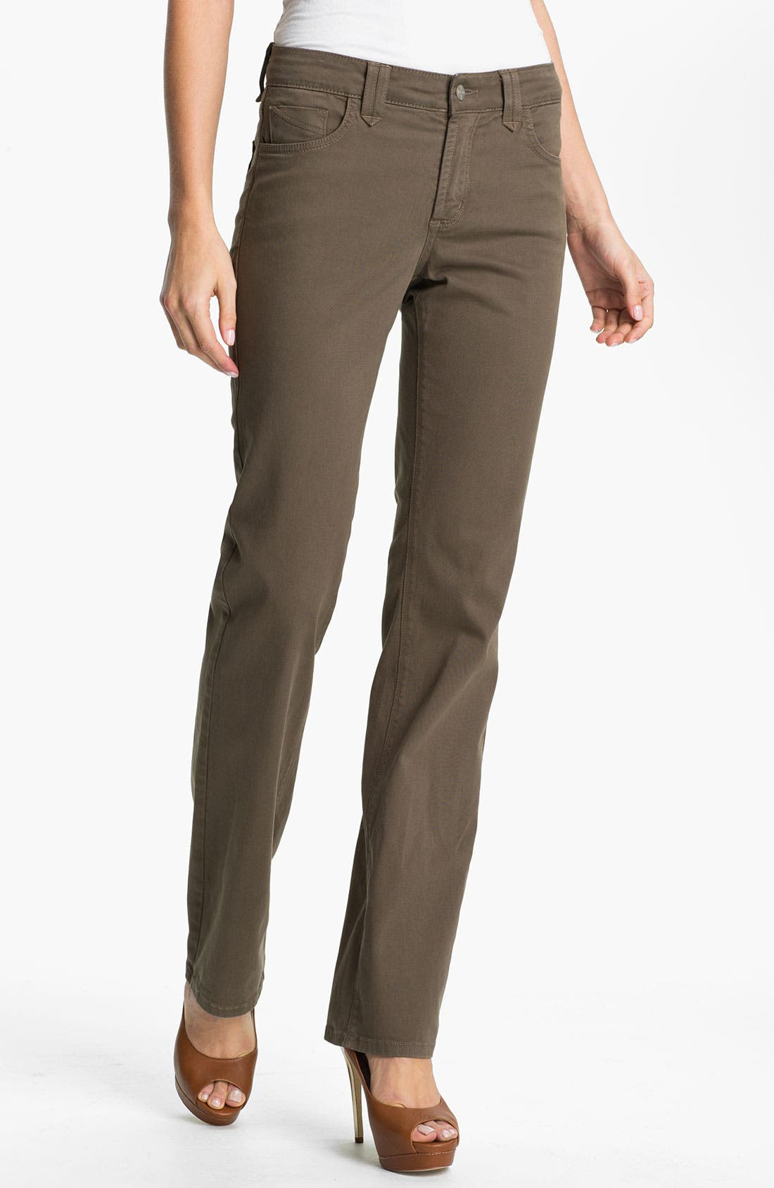 Alternate Image 1 Selected - NYDJ 'Hayden' Straight Leg Twill Jeans