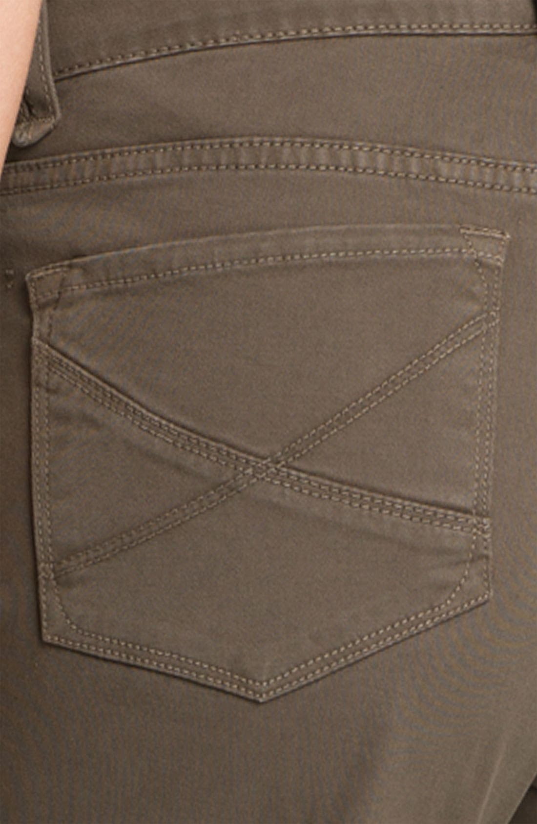 Alternate Image 3  - NYDJ 'Hayden' Straight Leg Twill Jeans