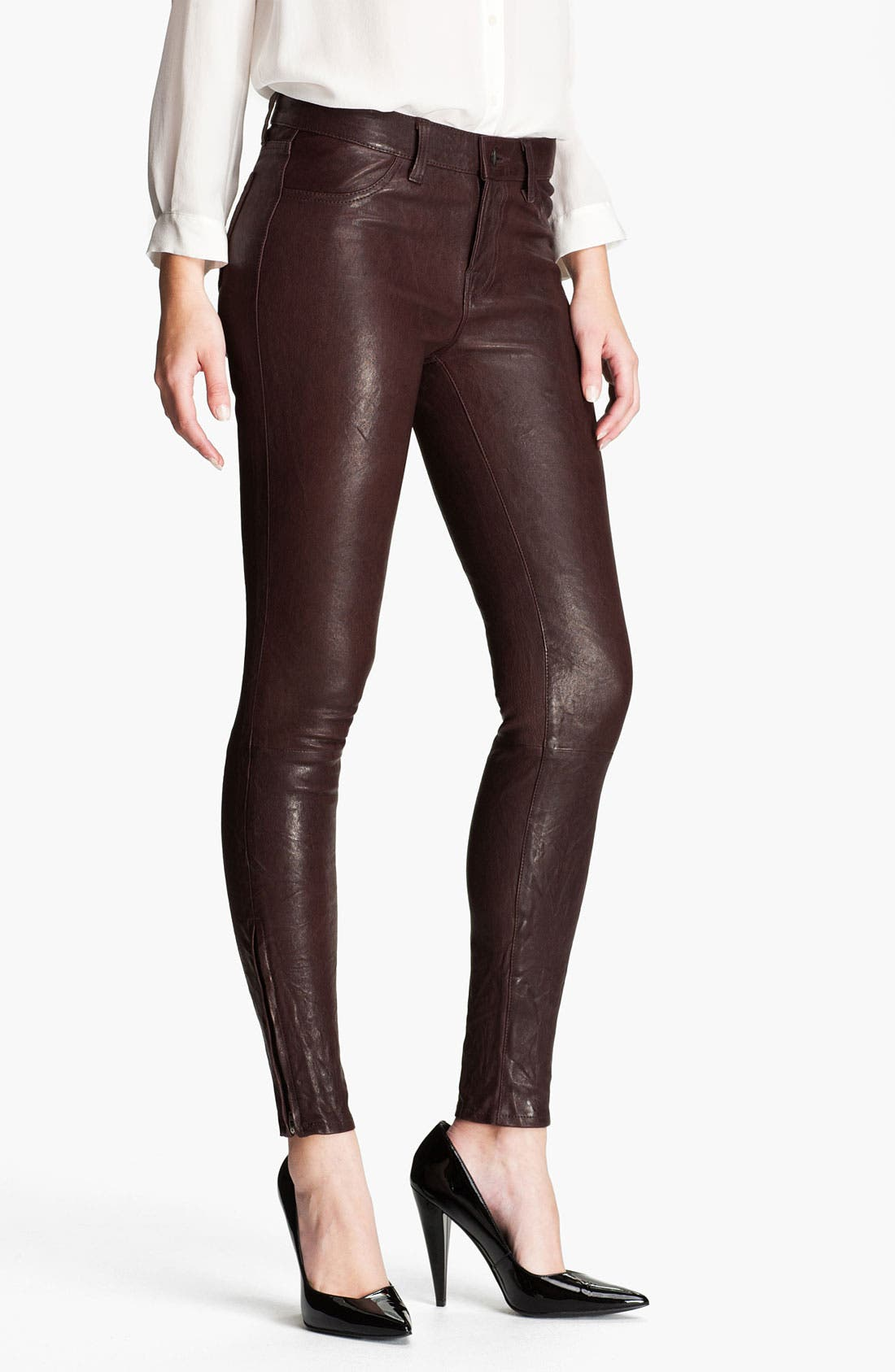 Alternate Image 1 Selected - J Brand '8001' Lambskin Leather Pants
