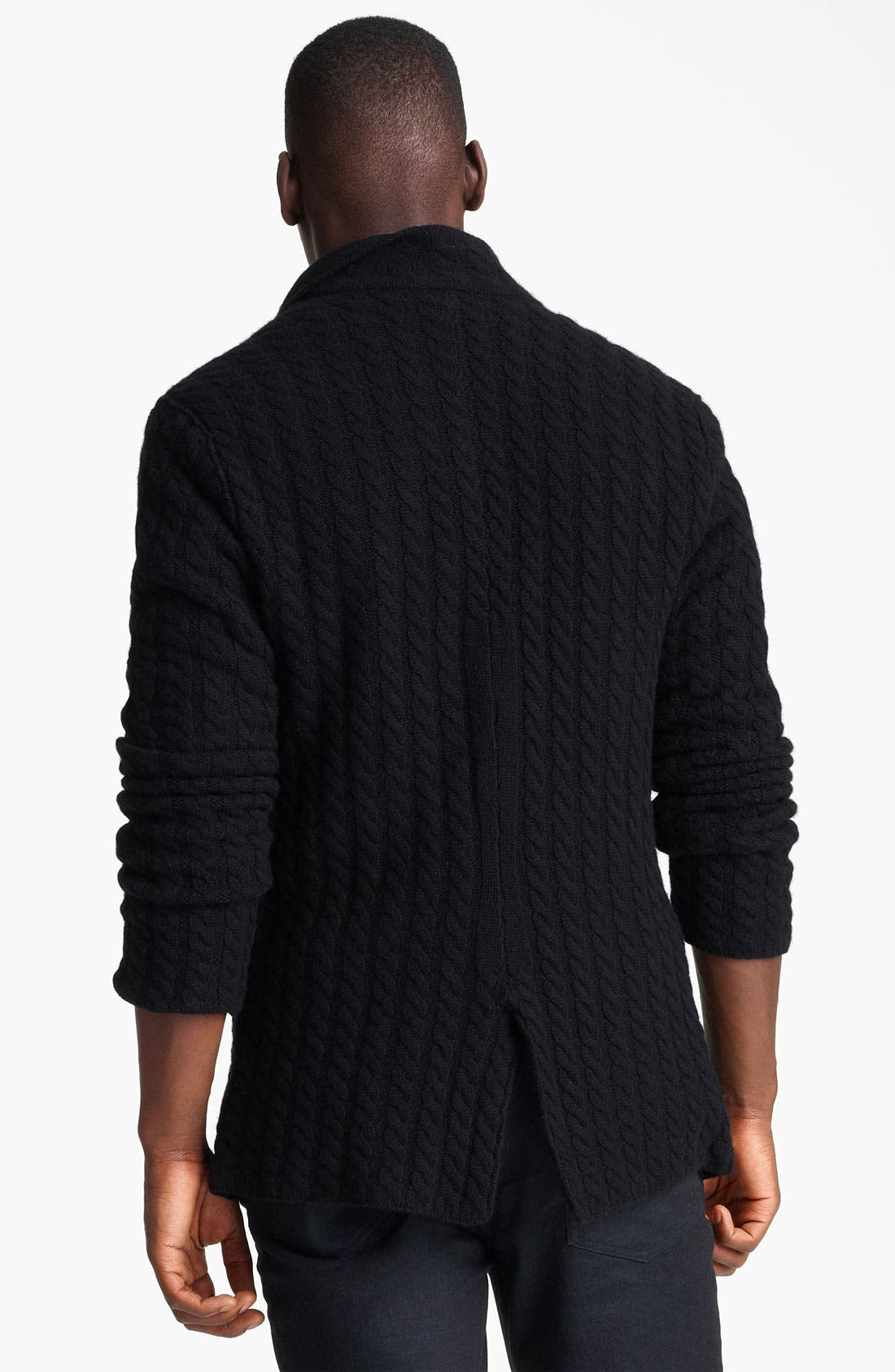Alternate Image 2  - John Varvatos Collection Double Layer Cashmere Sweater