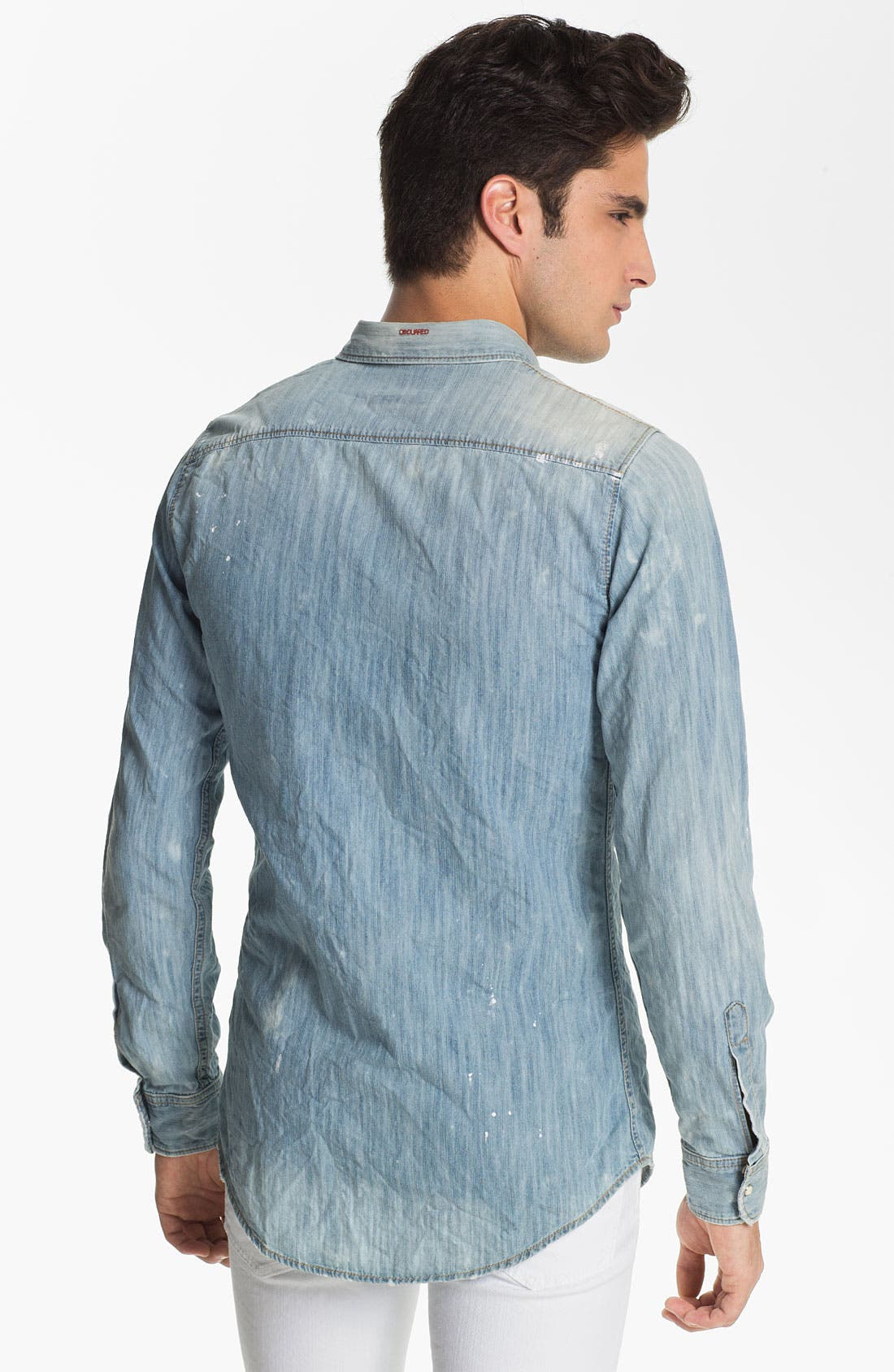 Alternate Image 2  - Dsquared2 Washed Chambray Shirt