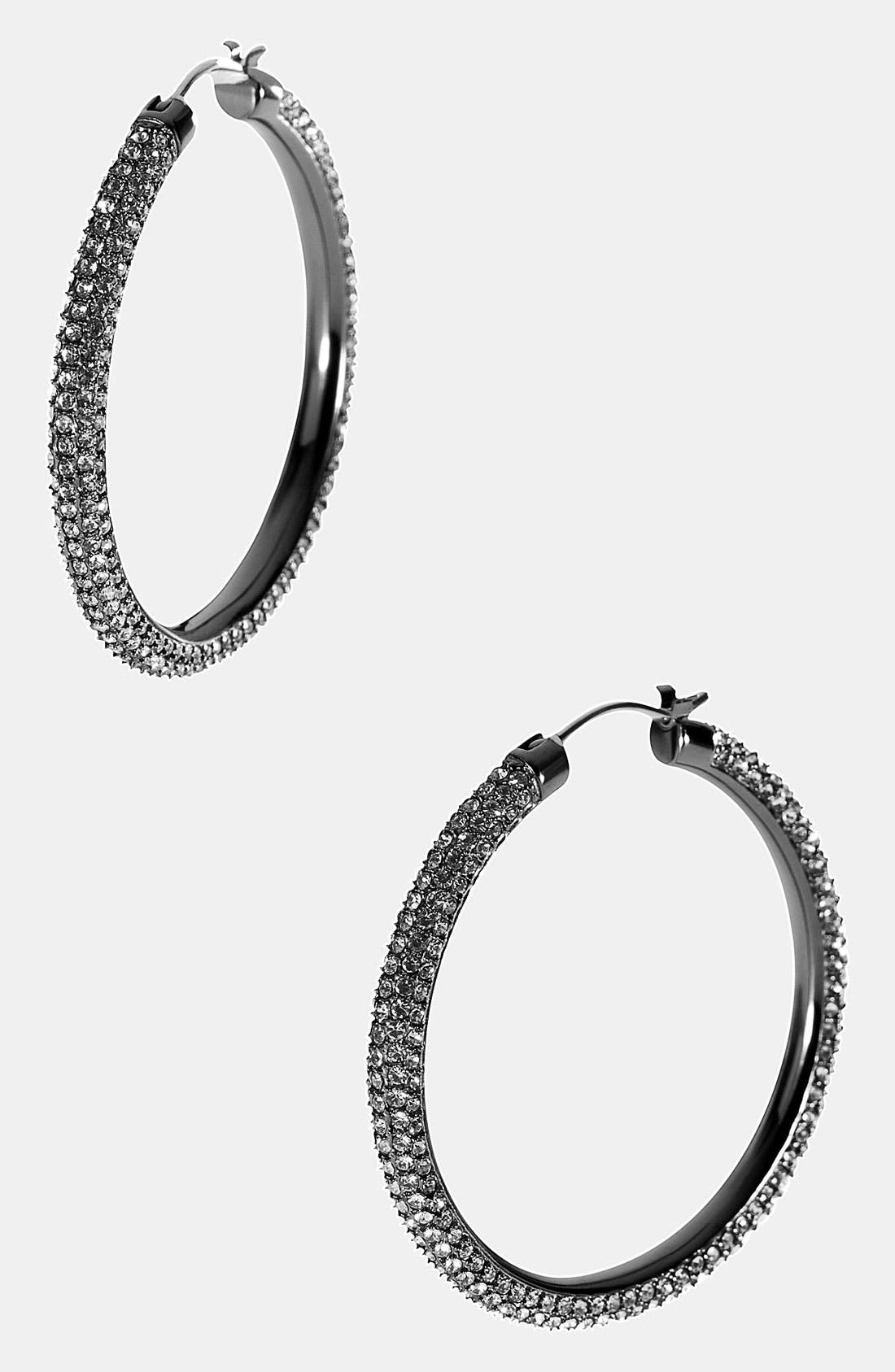 Alternate Image 1 Selected - Michael Kors 'Camille' Pavé Hoop Earrings