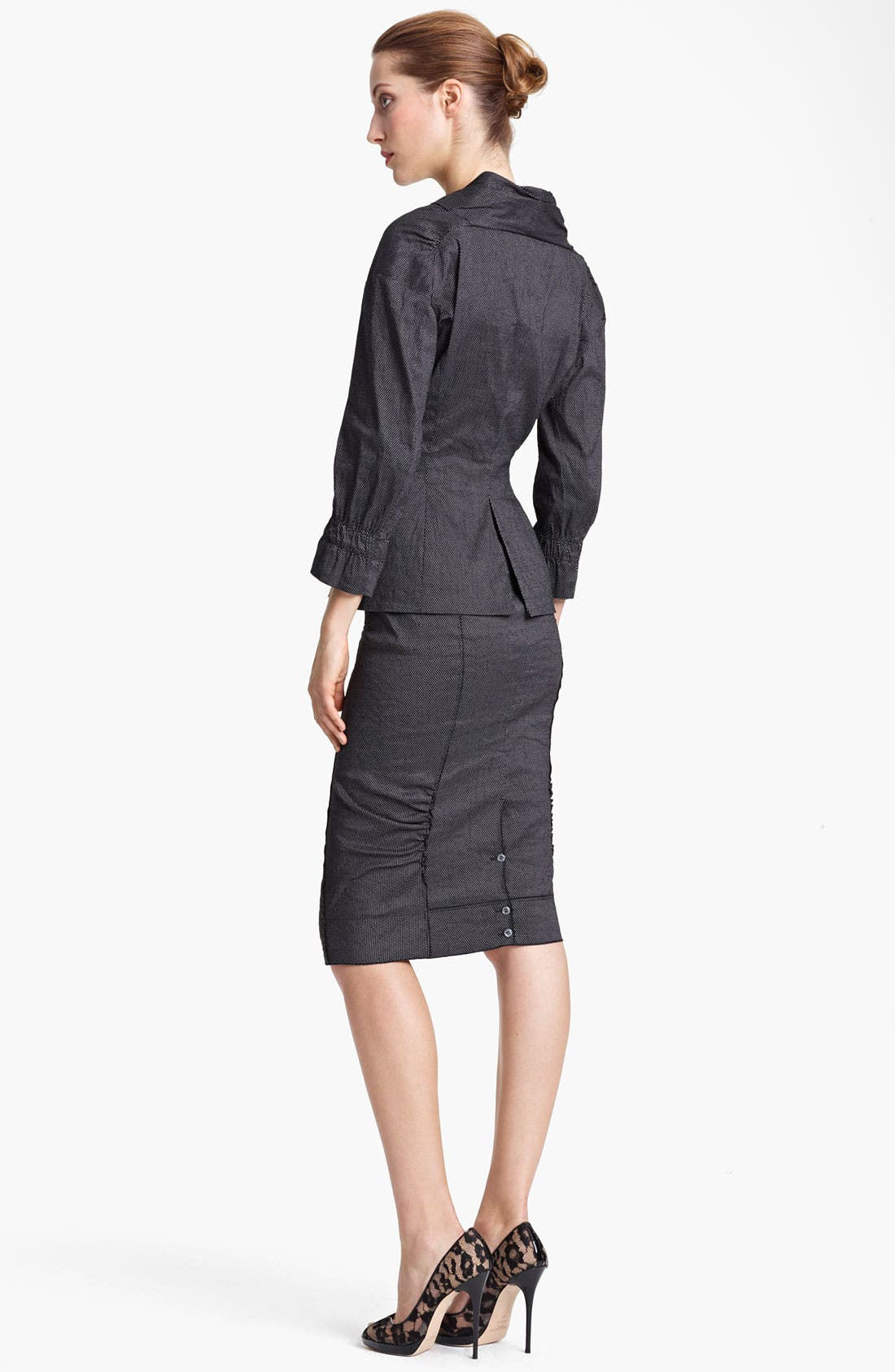 Alternate Image 3  - Nina Ricci Zip Front Pin Dot Jacket