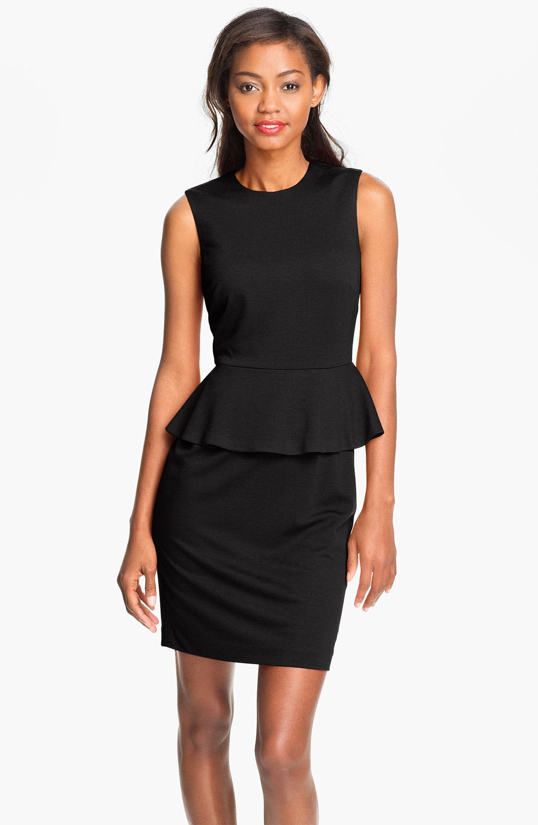 Alternate Image 1 Selected - Vince Camuto Peplum Sheath Dress (Petite)