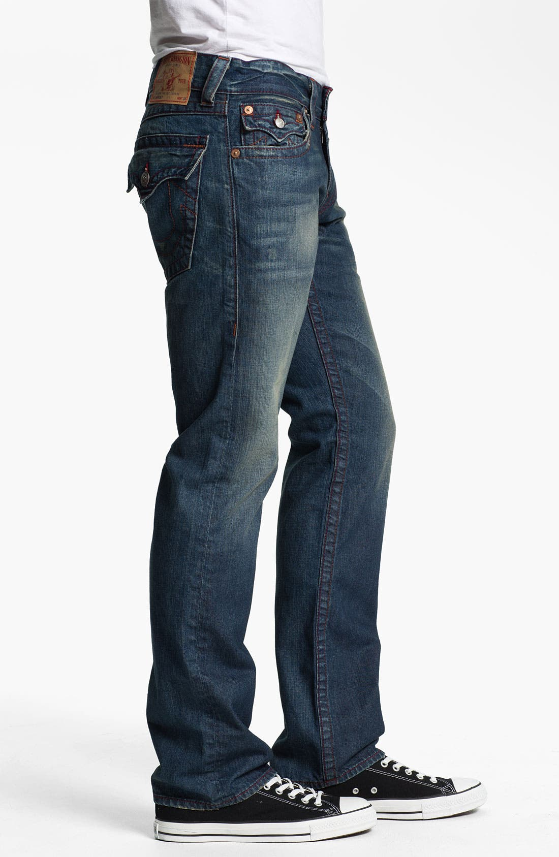 Alternate Image 3  - True Religion Brand Jeans 'Ricky' Straight Leg Jeans (Dark Drifter)