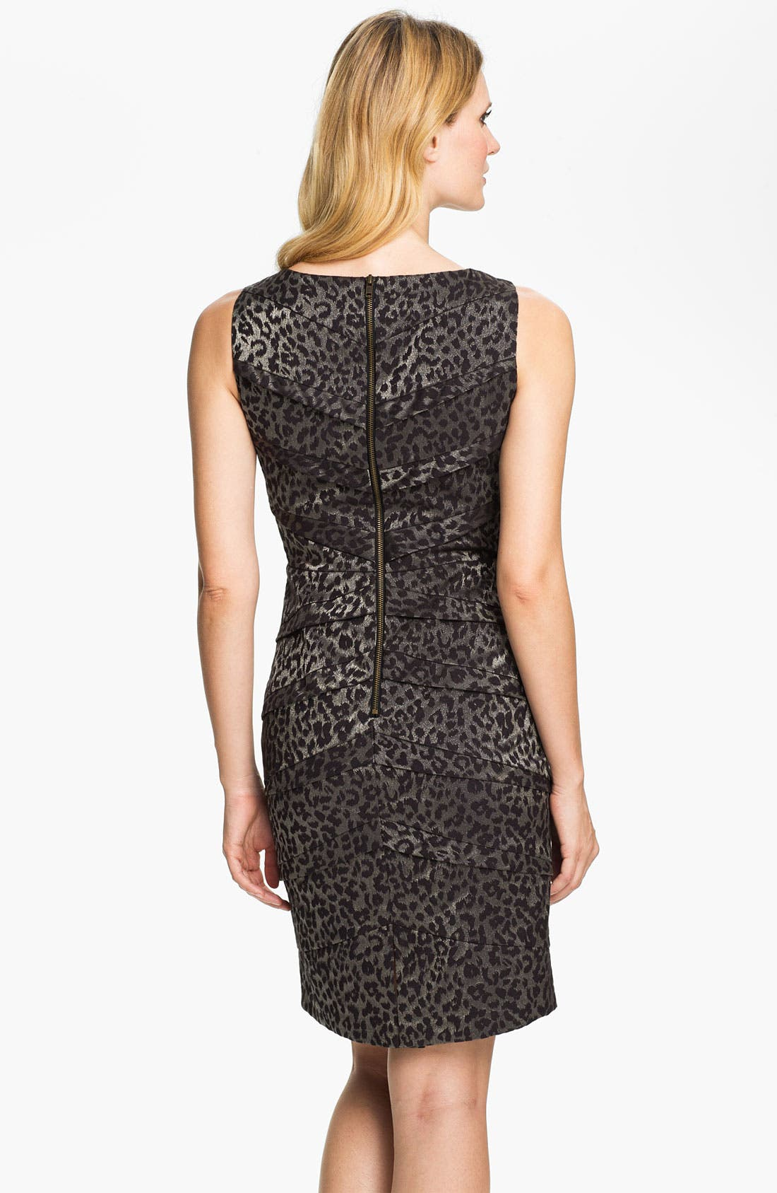 Alternate Image 2  - Adrianna Papell Metallic Leopard Print Sheath Dress