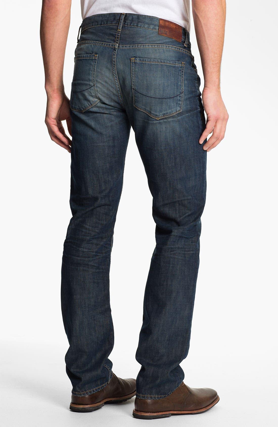 Alternate Image 1 Selected - PAIGE 'Normandie' Slim Straight Leg Jeans (Castaway)