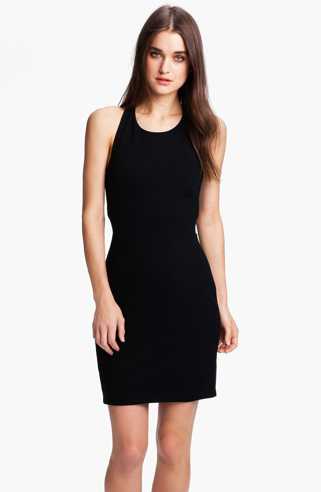 Alternate Image 1 Selected - B44 Dressed by Bailey 44 Contrast Band Racerback Ponte Dress