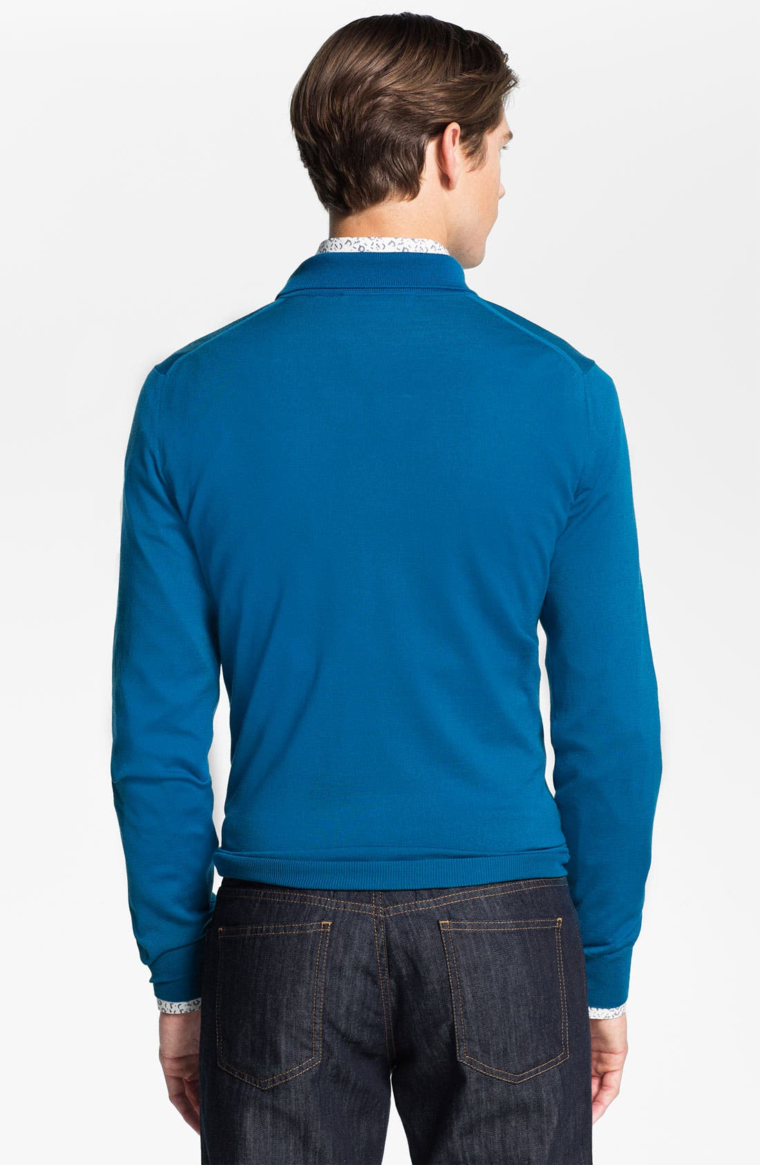 Alternate Image 2  - Salvatore Ferragamo Half Zip Wool Sweater