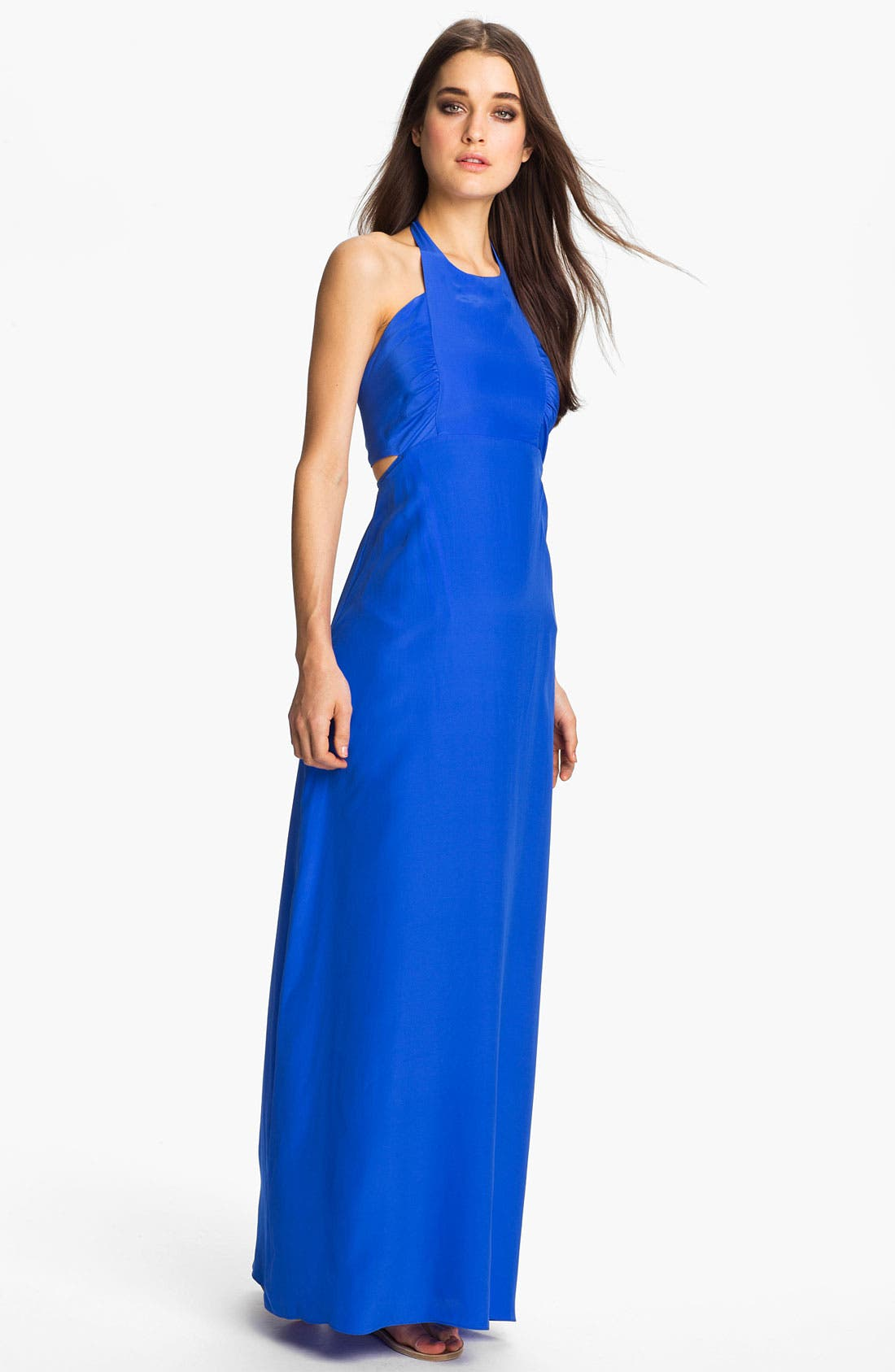 Alternate Image 1 Selected - ALICE & TRIXIE 'Tiffany' Double Tie Silk Halter Maxi Dress