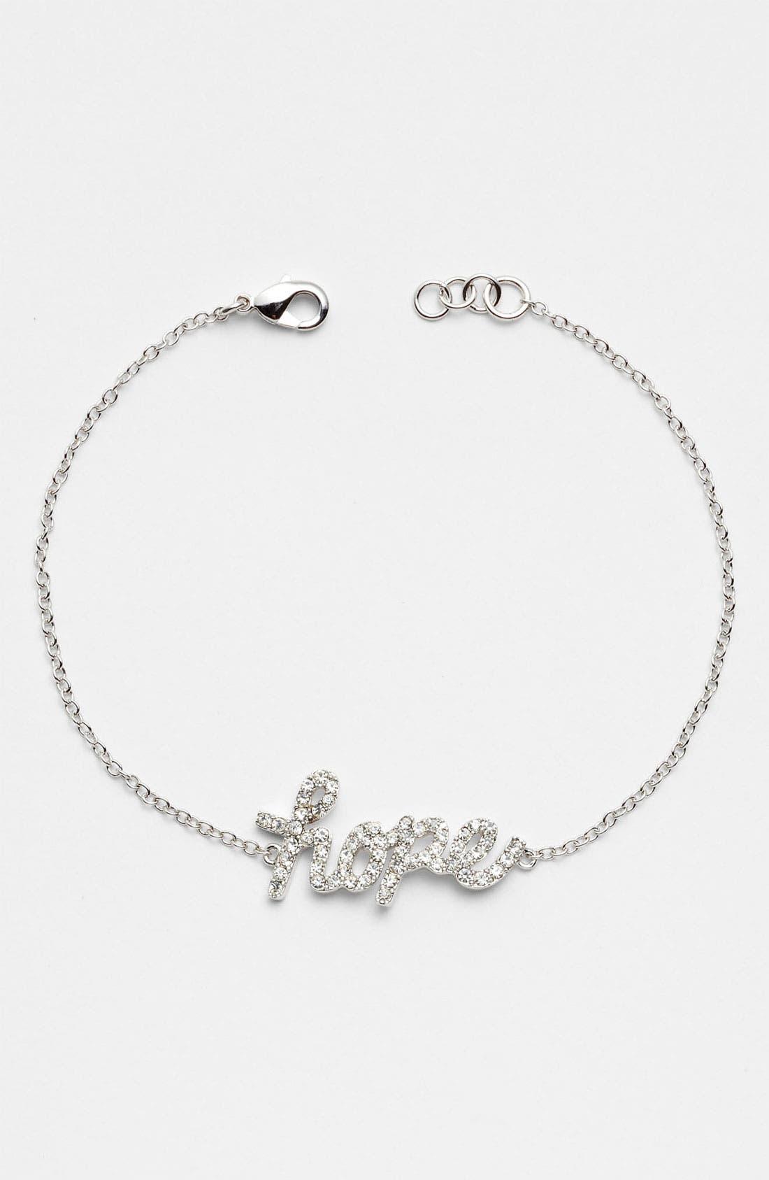 Main Image - Ariella Collection 'Messages - Hope' Script Station Bracelet