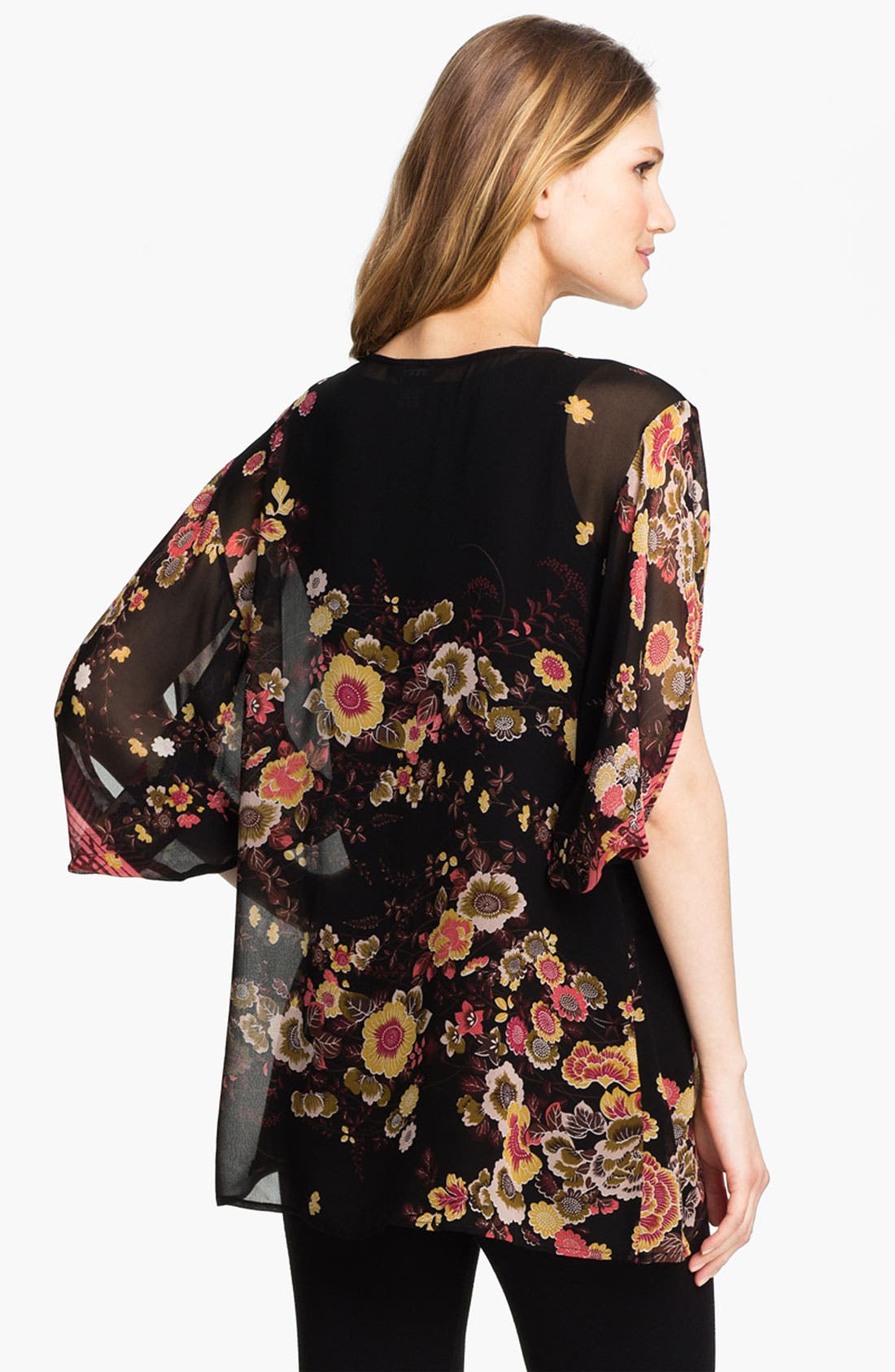 Alternate Image 2  - Citron Print Silk Tunic with Camisole