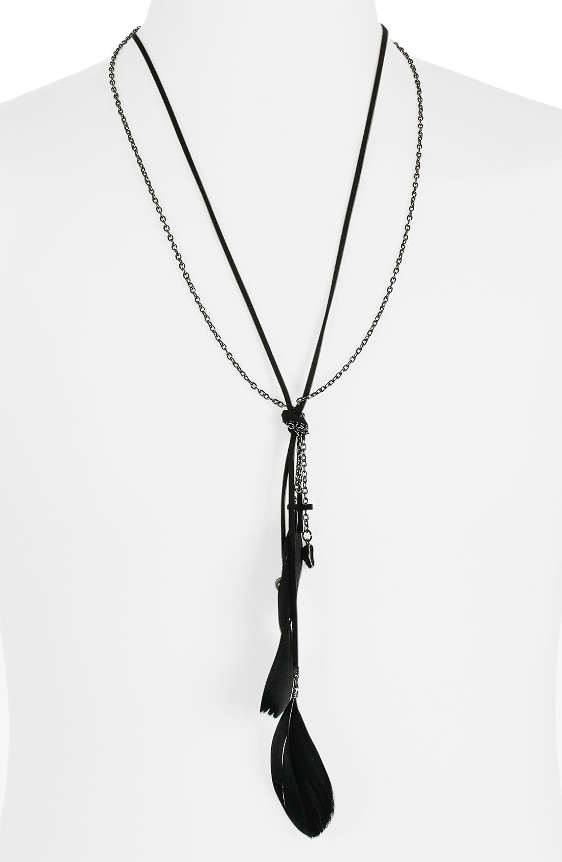 Alternate Image 1 Selected - Topman Mixed Pendant Necklace