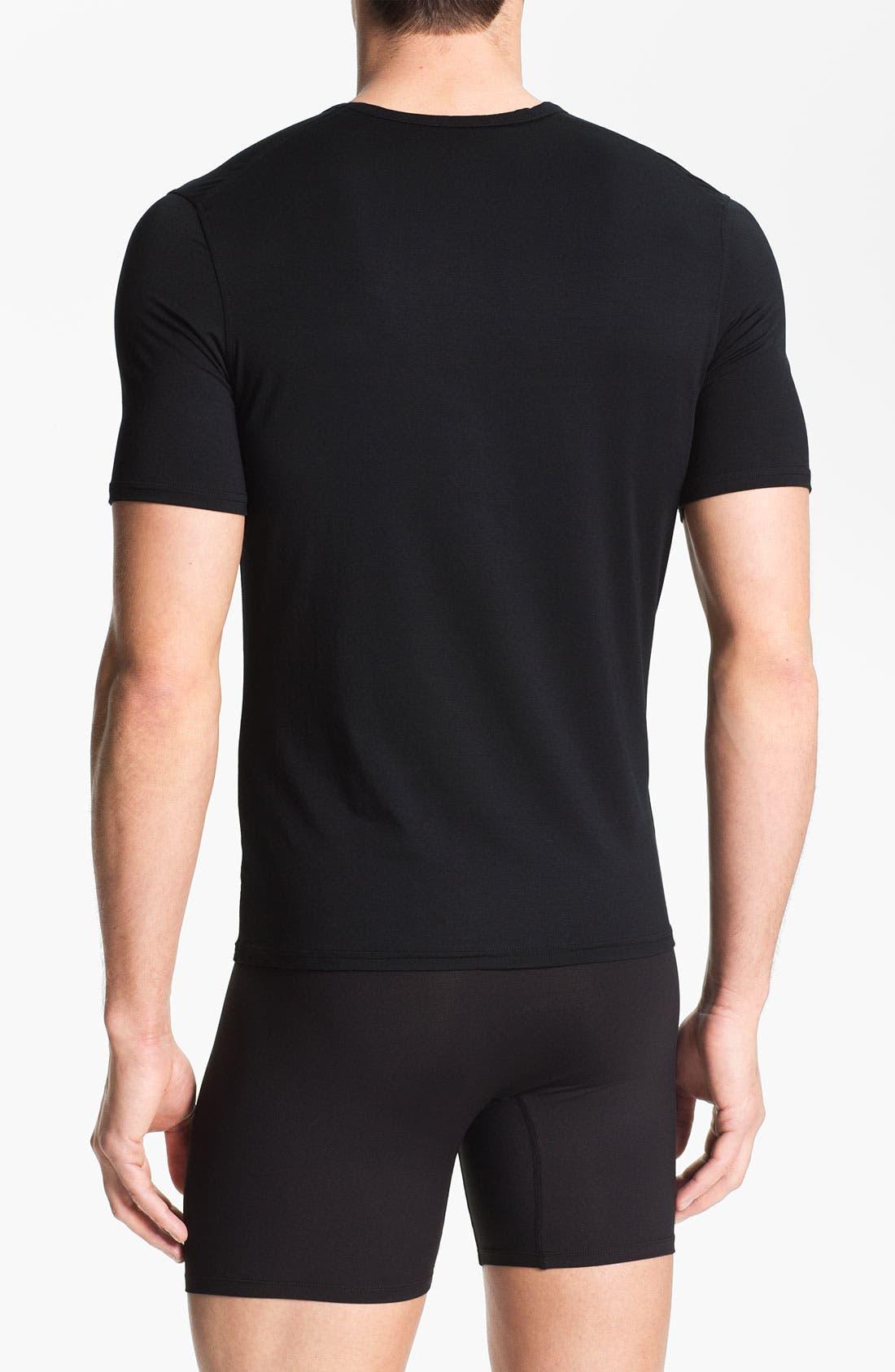 Alternate Image 2  - Naked V-Neck Micromodal Undershirt