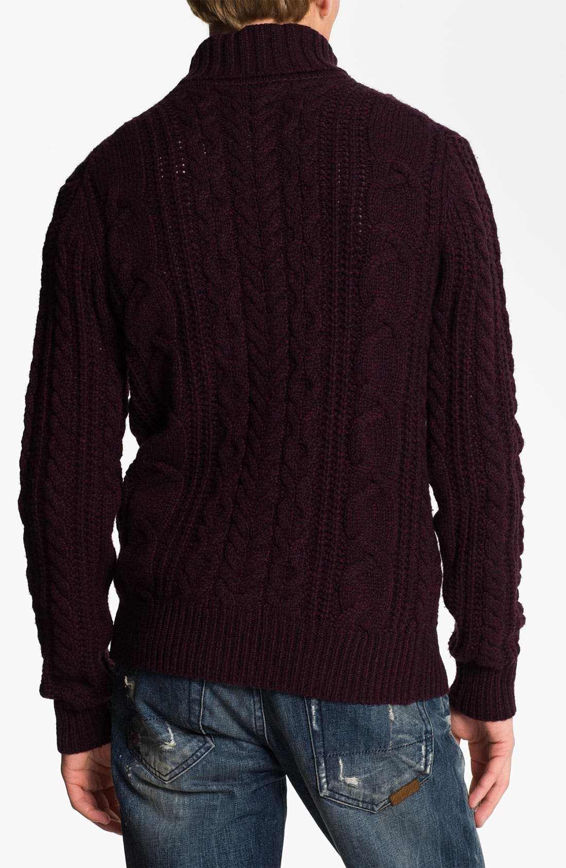Alternate Image 2  - PLECTRUM by Ben Sherman Cable Knit Turtleneck Sweater
