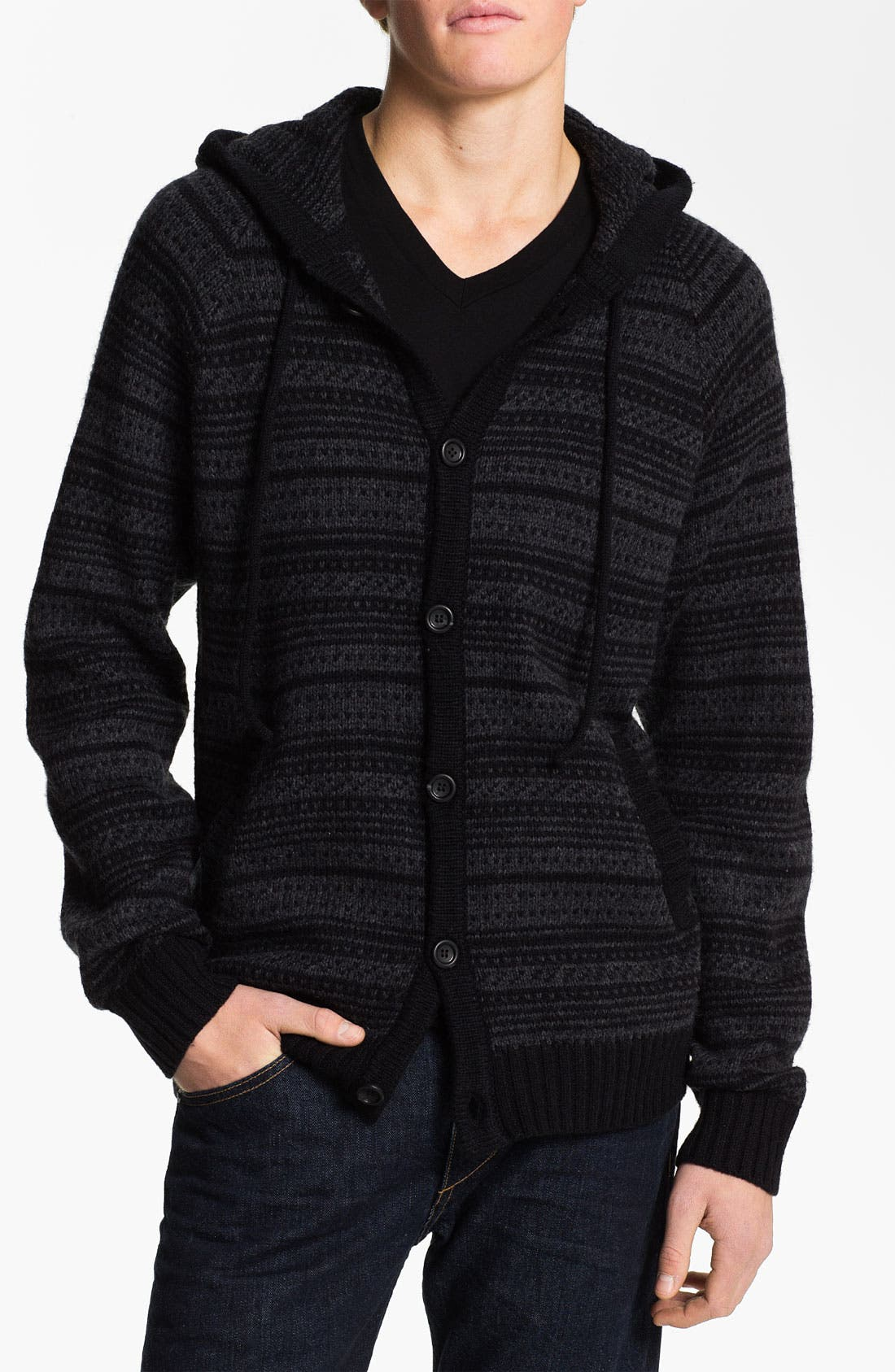 Alternate Image 1 Selected - RVCA 'Scando' Jacquard Knit Hoodie
