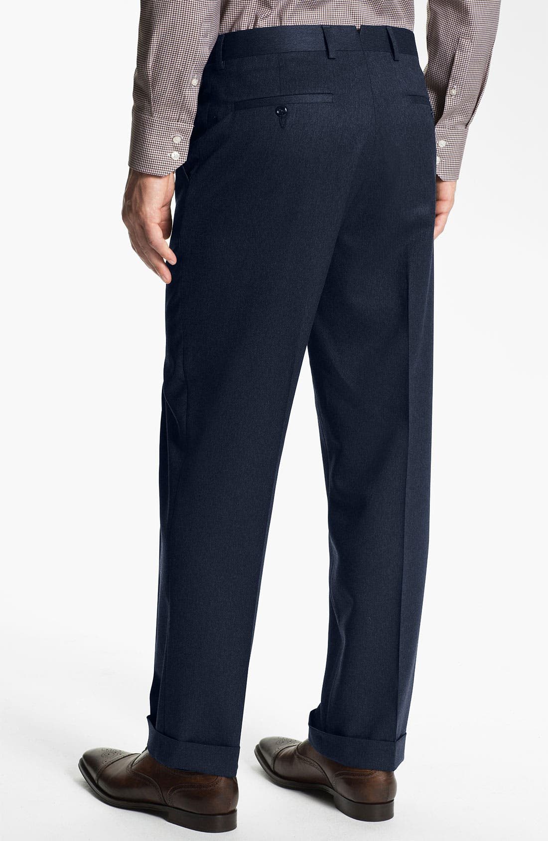 Alternate Image 2  - Nordstrom Pleated Wool Trousers (Online Only)