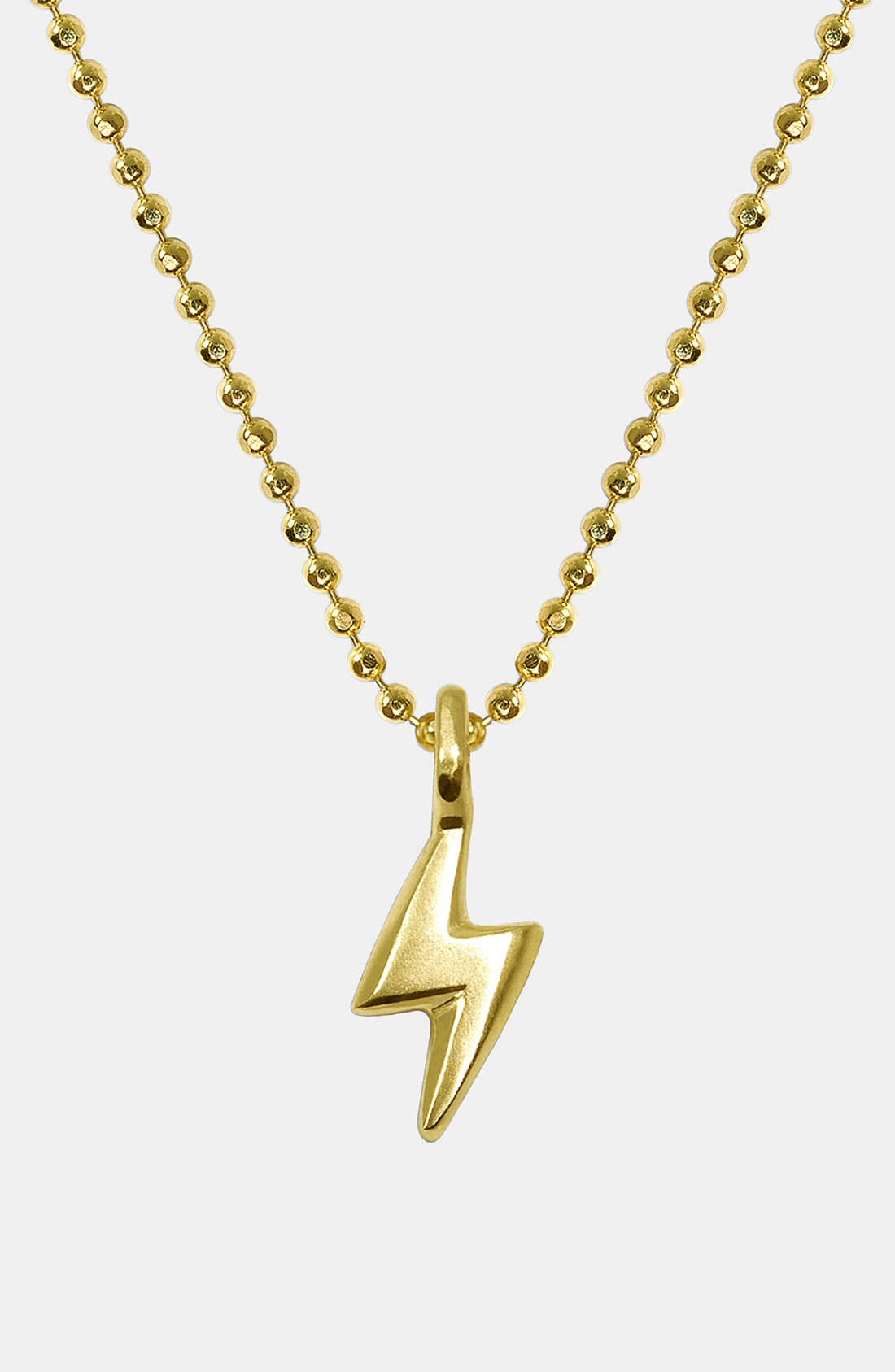 Alternate Image 1 Selected - Alex Woo 'Mini Lightening Bolt' 14k Gold Pendant Necklace