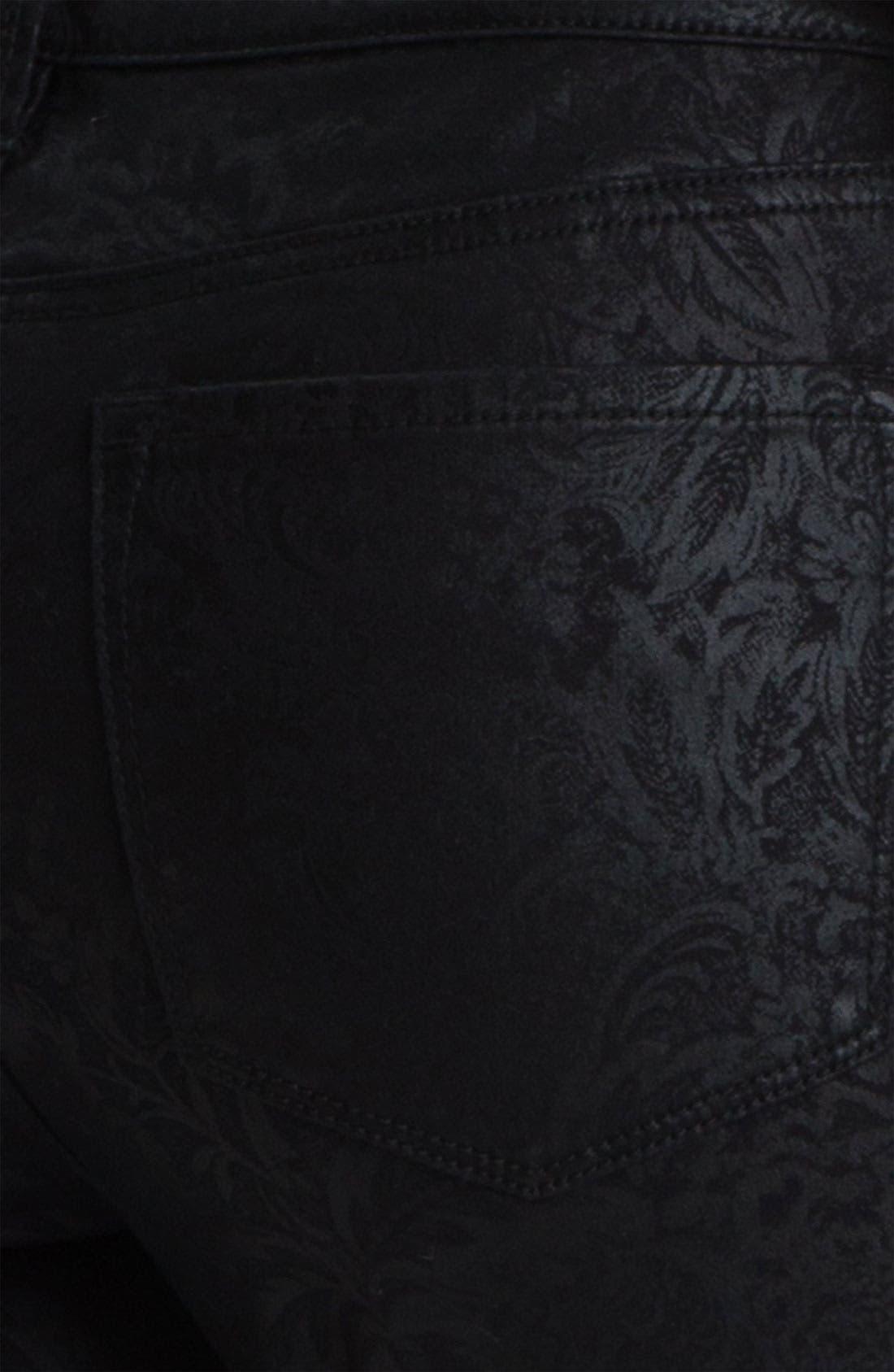 Alternate Image 3  - NYDJ 'Sheri - Metallic Gilded Lily' Twill Skinny Jeans