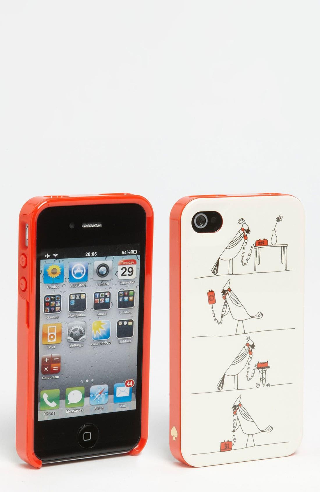Main Image - kate spade new york 'four calling birds' iPhone 4 & 4S case