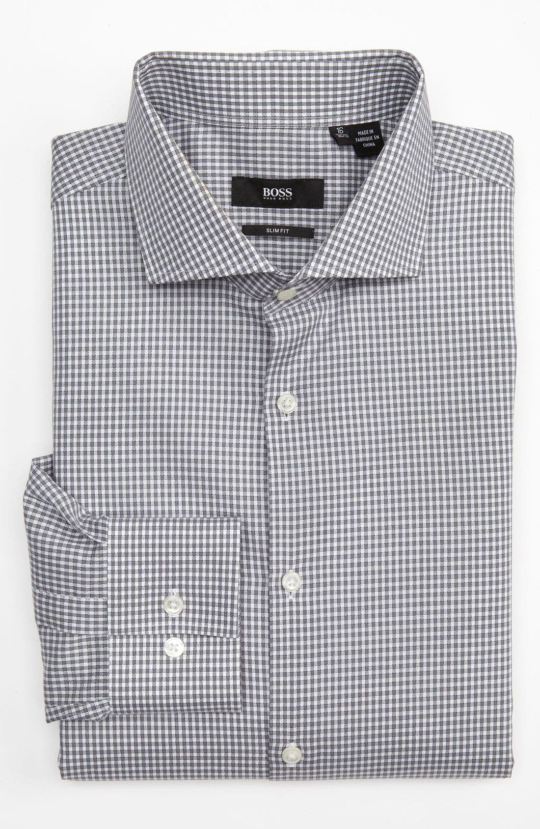 Alternate Image 1 Selected - BOSS Black Slim Fit Dress Shirt (Online Exclusive)