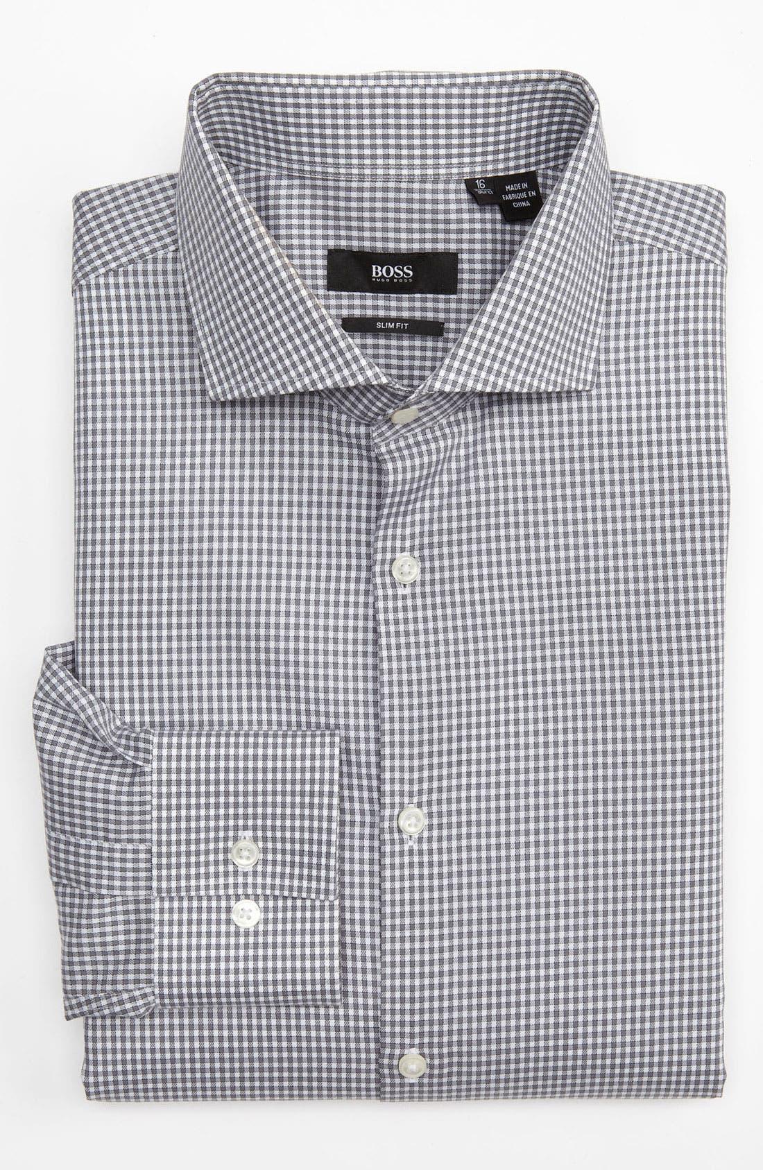 Main Image - BOSS Black Slim Fit Dress Shirt (Online Exclusive)