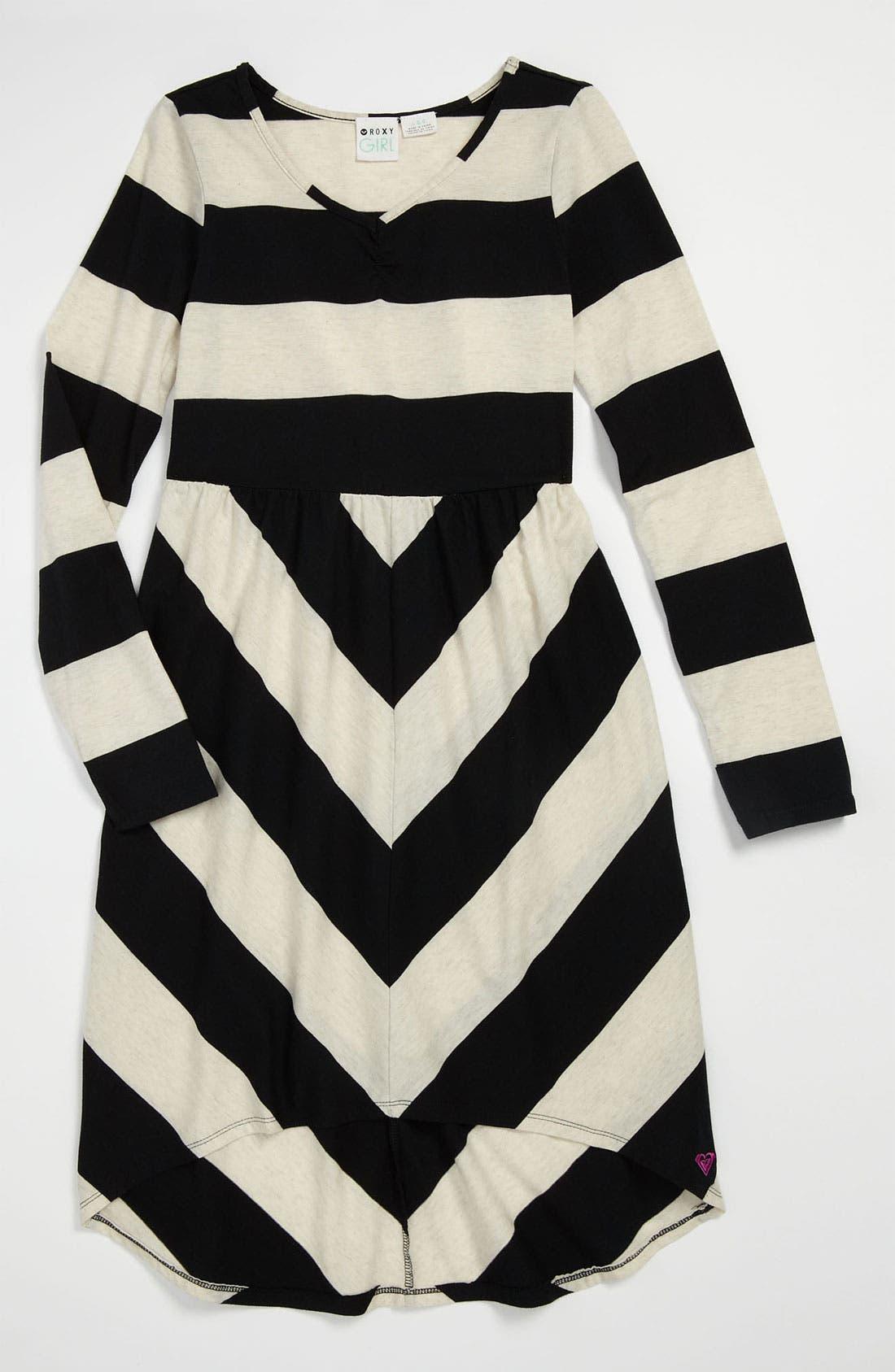 Alternate Image 1 Selected - 'Winterberry' Stripe Dress (Big Girls)
