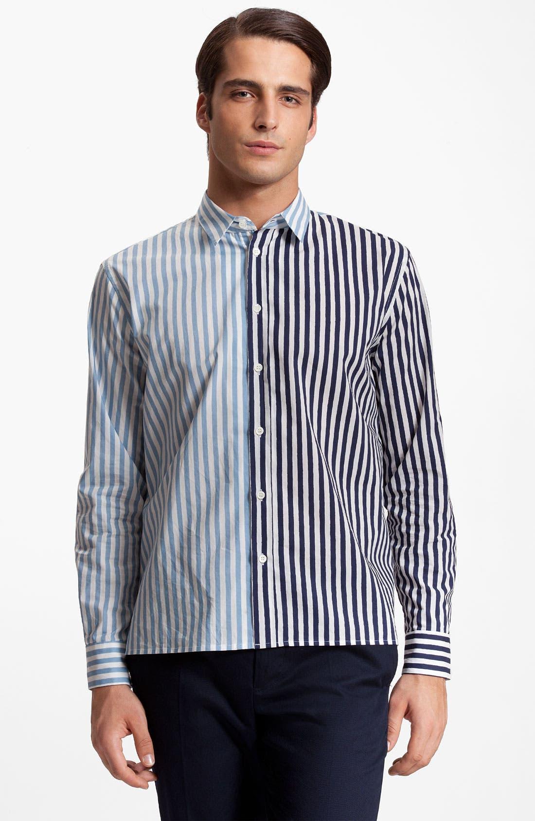 Alternate Image 1 Selected - Marni Stripe Cotton Poplin Shirt