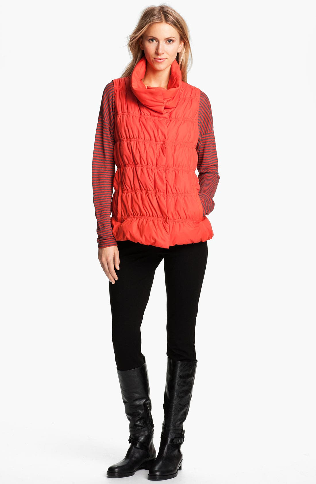 Alternate Image 4  - Eileen Fisher Stripe Linen Jersey Top