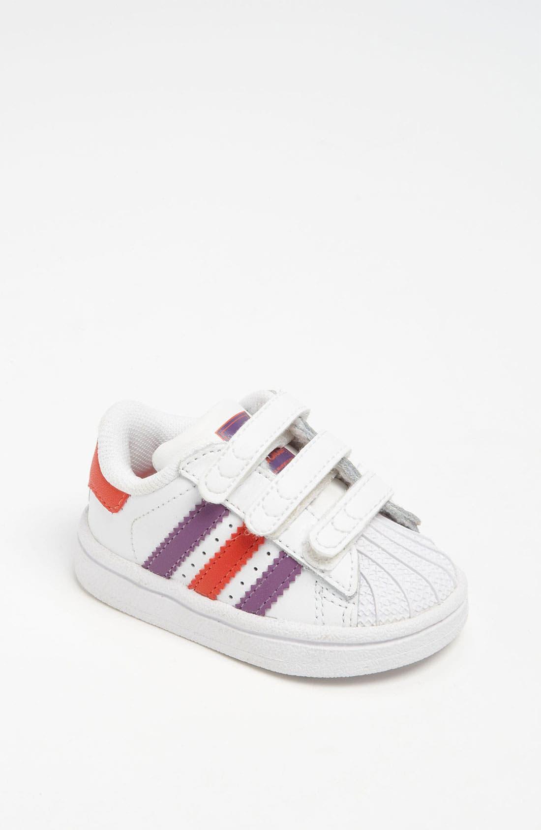 Alternate Image 1 Selected - adidas 'Superstar 2' Sneaker (Baby, Walker & Toddler)