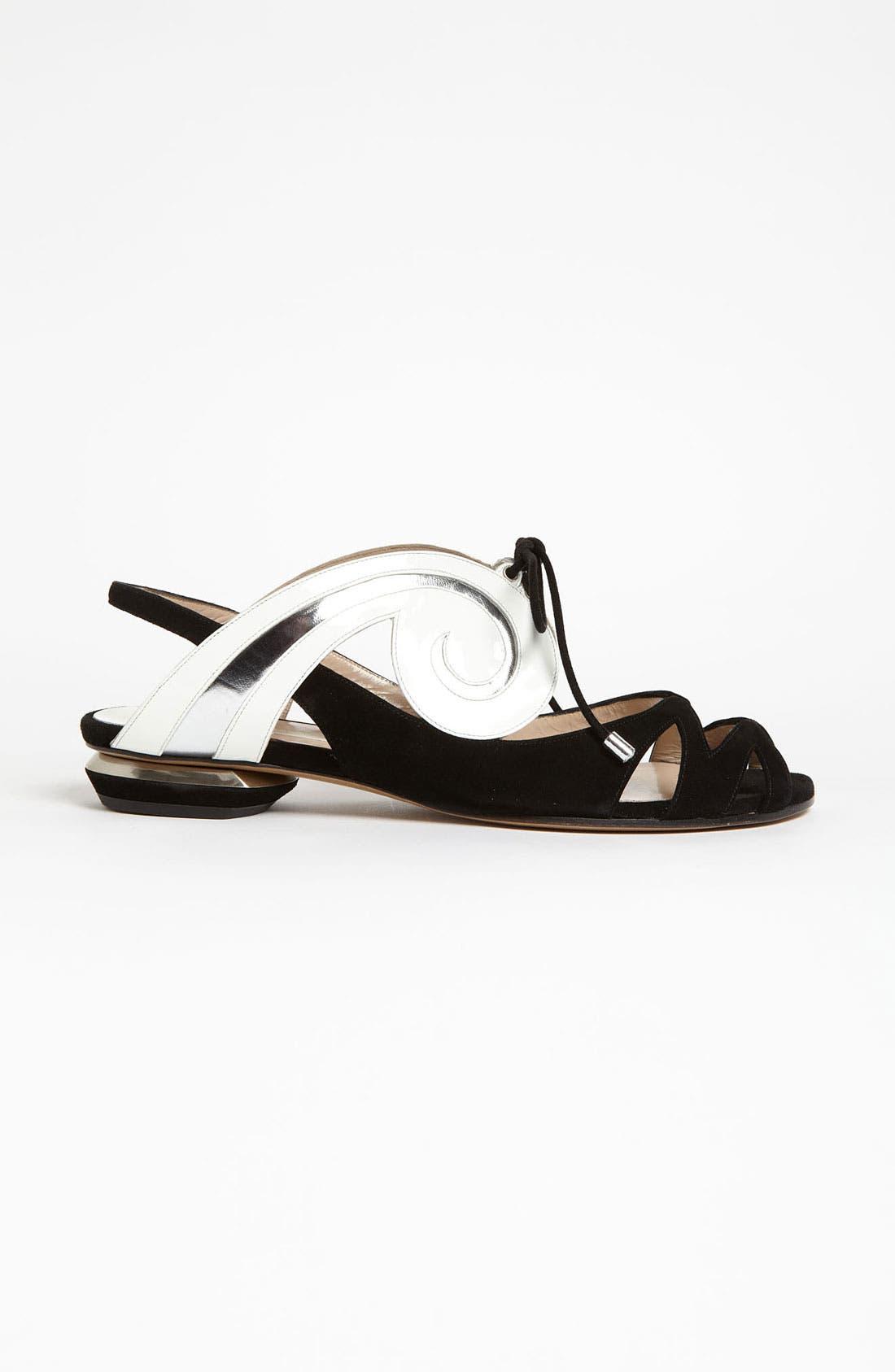 Alternate Image 4  - Nicholas Kirkwood 'Swirl' Flat Sandal