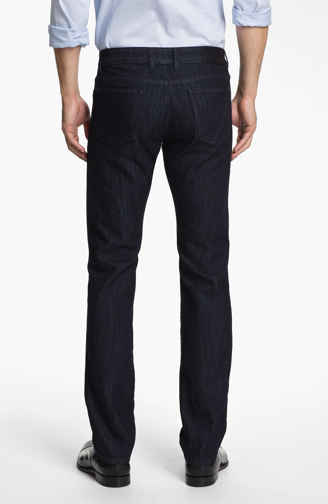 Alternate Image 2  - Z Zegna Straight Leg Jeans (Black)