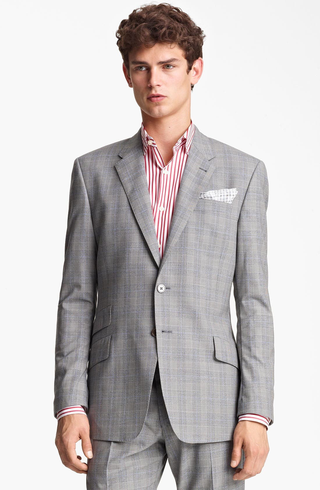 Alternate Image 1 Selected - Paul Smith London Slim Fit Glen Plaid Wool Suit