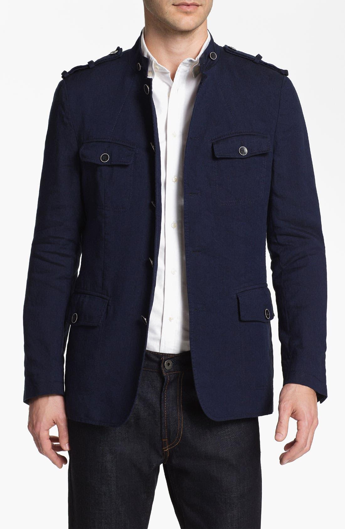 Main Image - BOSS Black 'Harlow' Linen Blend Field Jacket (Online Exclusive)