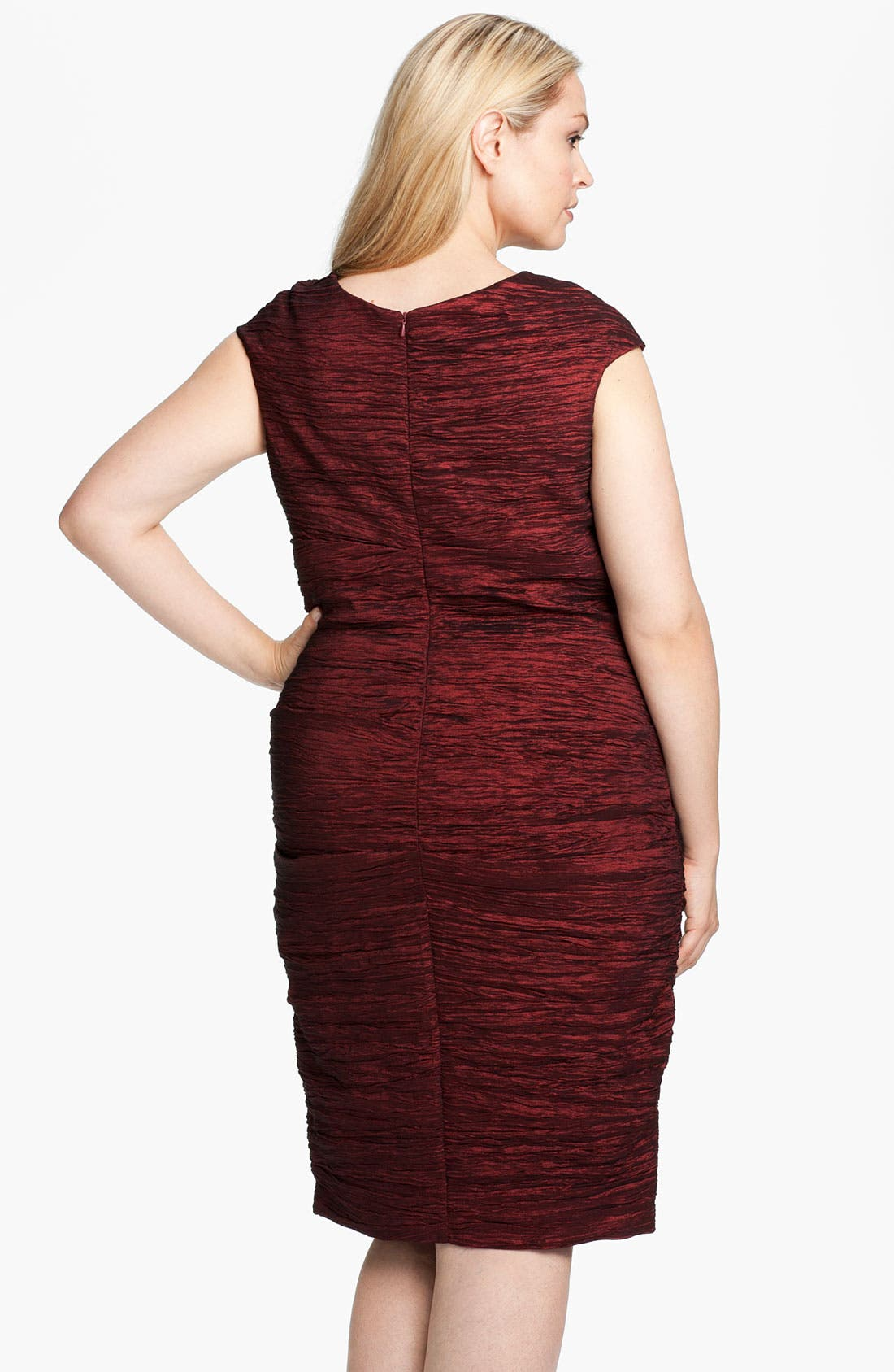 Alternate Image 2  - Alex Evenings Embellished Crinkled Taffeta Sheath Dress (Plus)