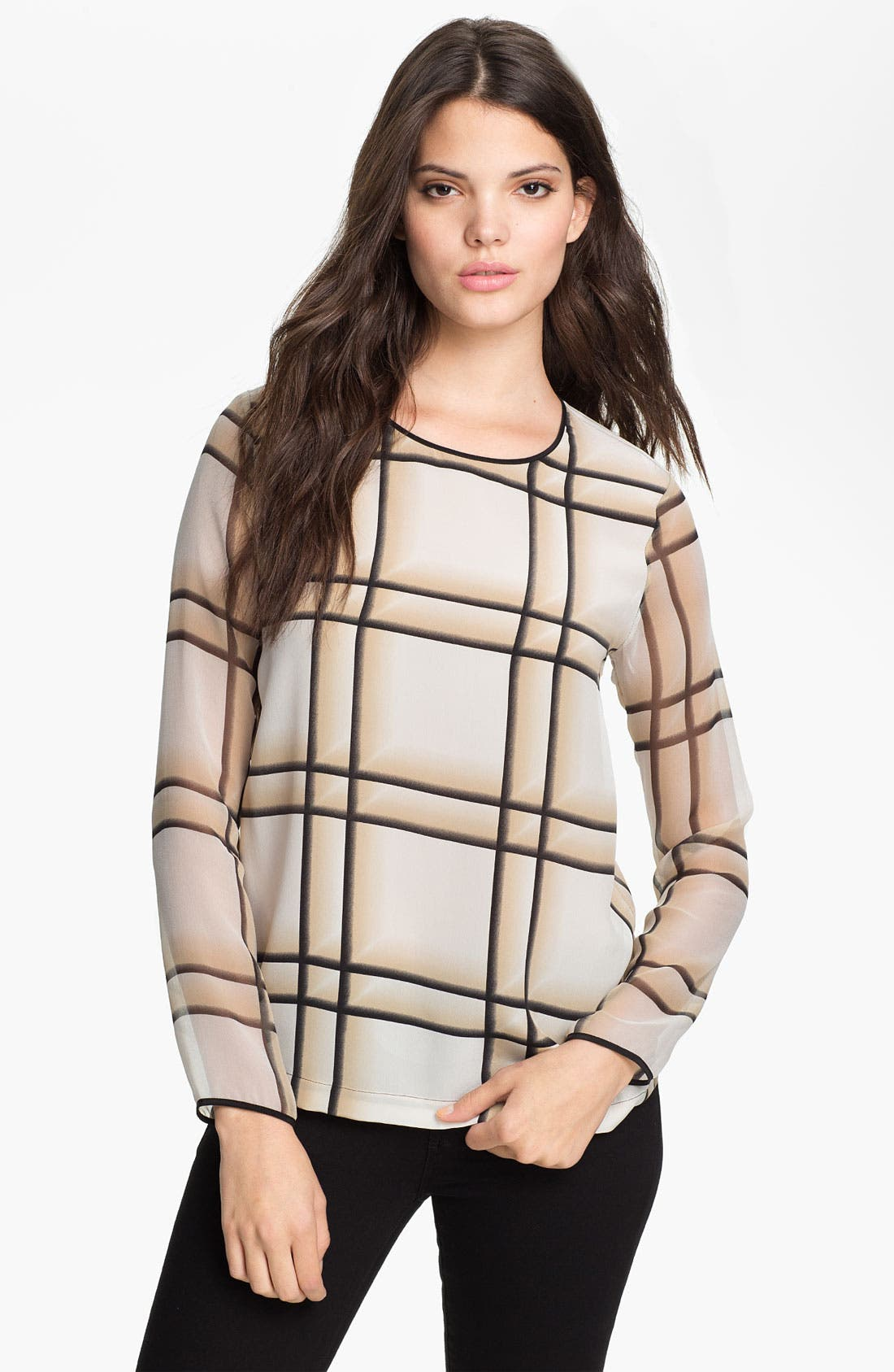 Alternate Image 1 Selected - Robert Rodriguez Ombré Plaid Silk Top