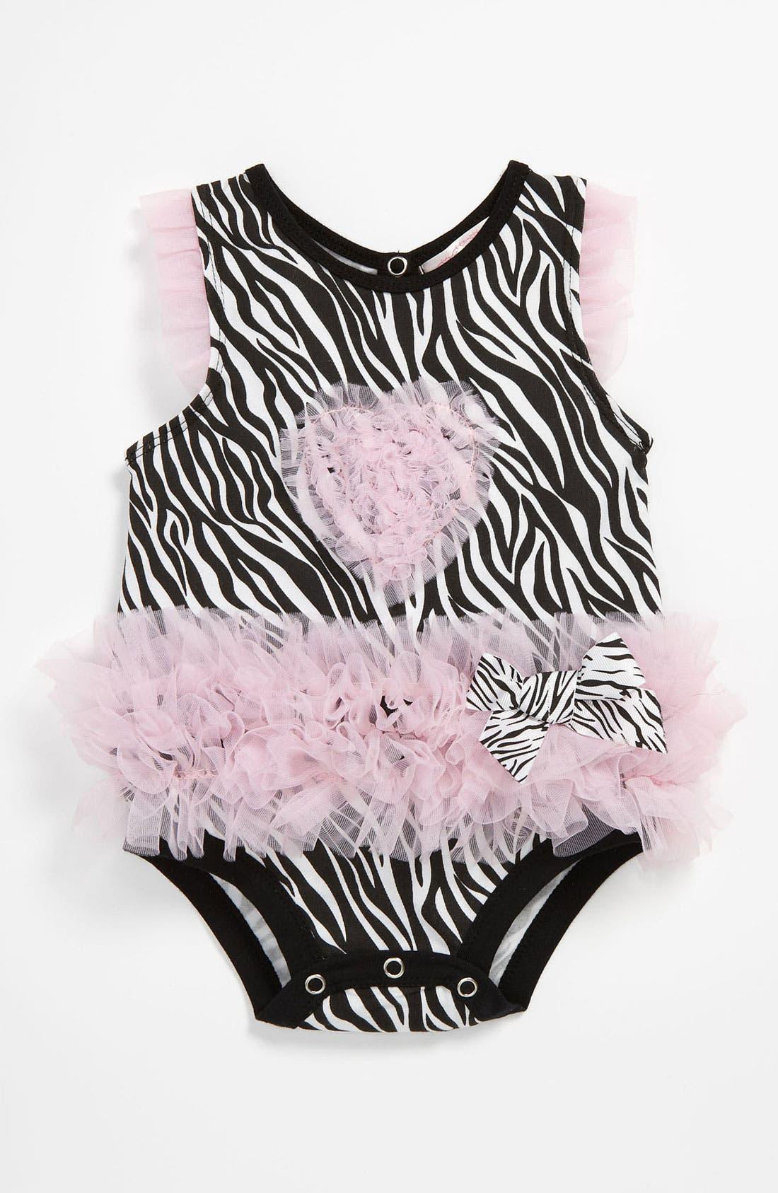 Main Image - Popatu 'Zebra' Bodysuit (Infant)
