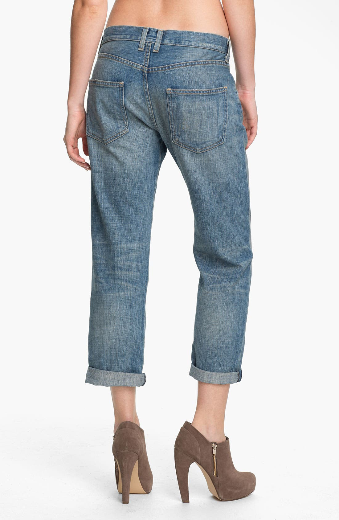 Alternate Image 2  - Current/Elliott 'The Boyfriend Jean' Stretch Jeans (Super Loved Destroy)