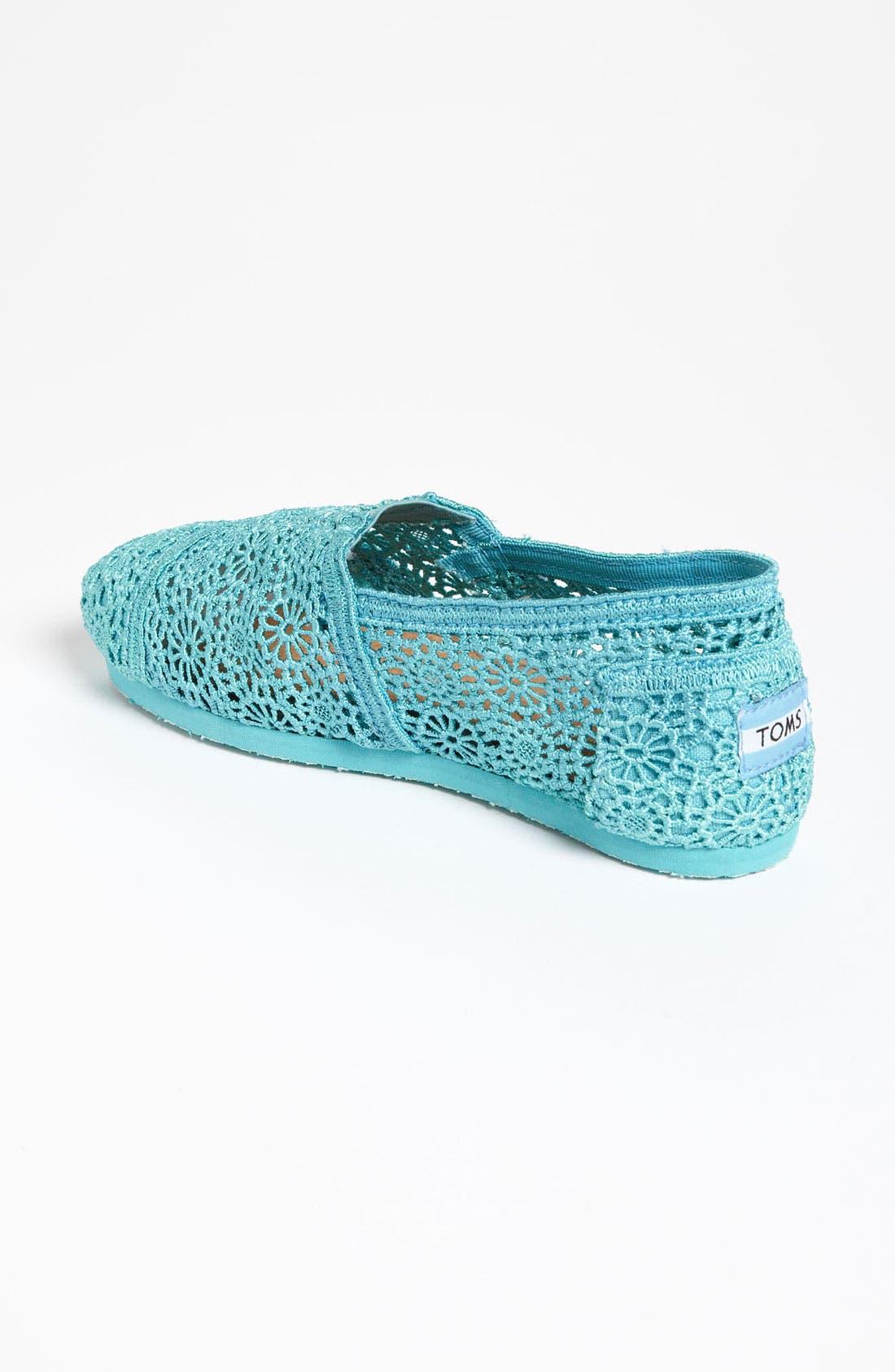 Alternate Image 2  - TOMS 'Classic' Crochet Slip-On (Women)