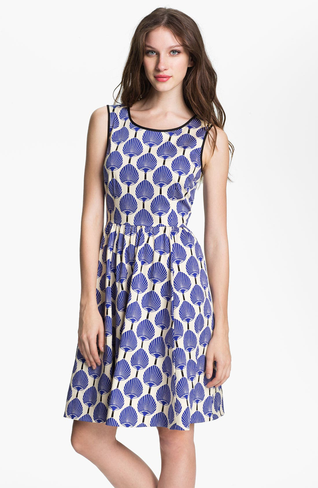 Main Image - kate spade new york 'matty' stretch cotton fit & flare dress