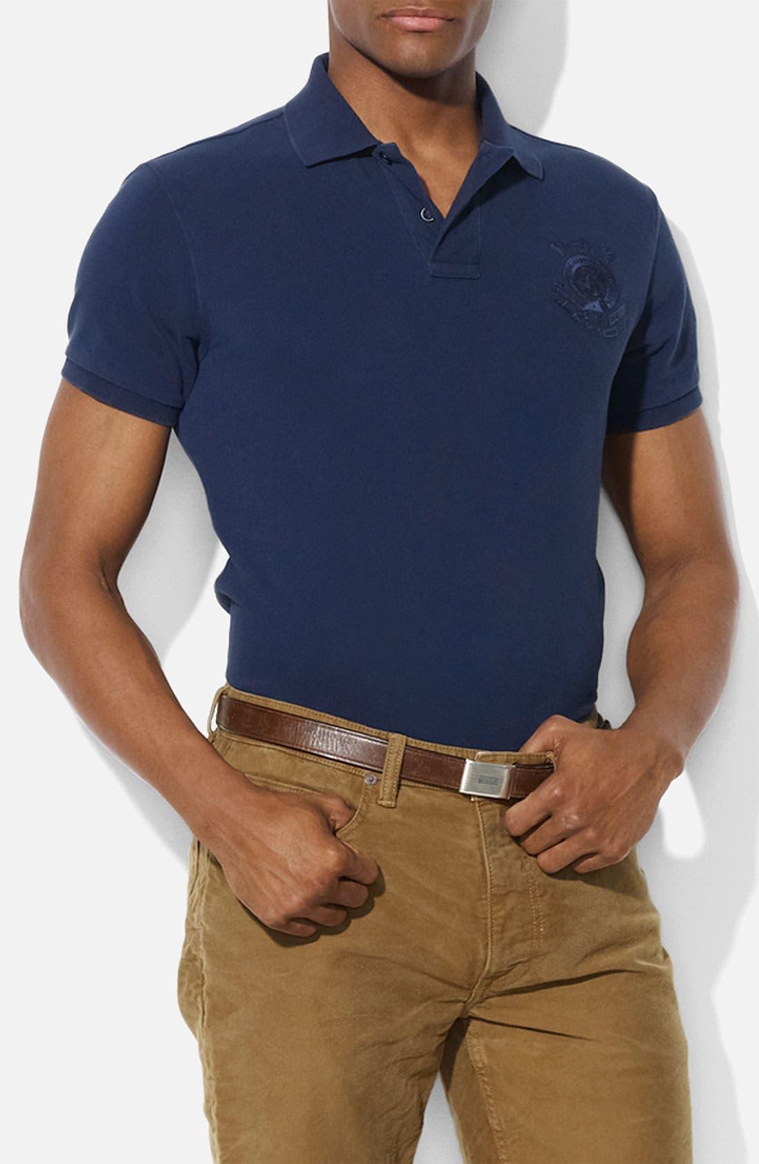 Alternate Image 1 Selected - Polo Ralph Lauren Custom Fit Mesh Polo