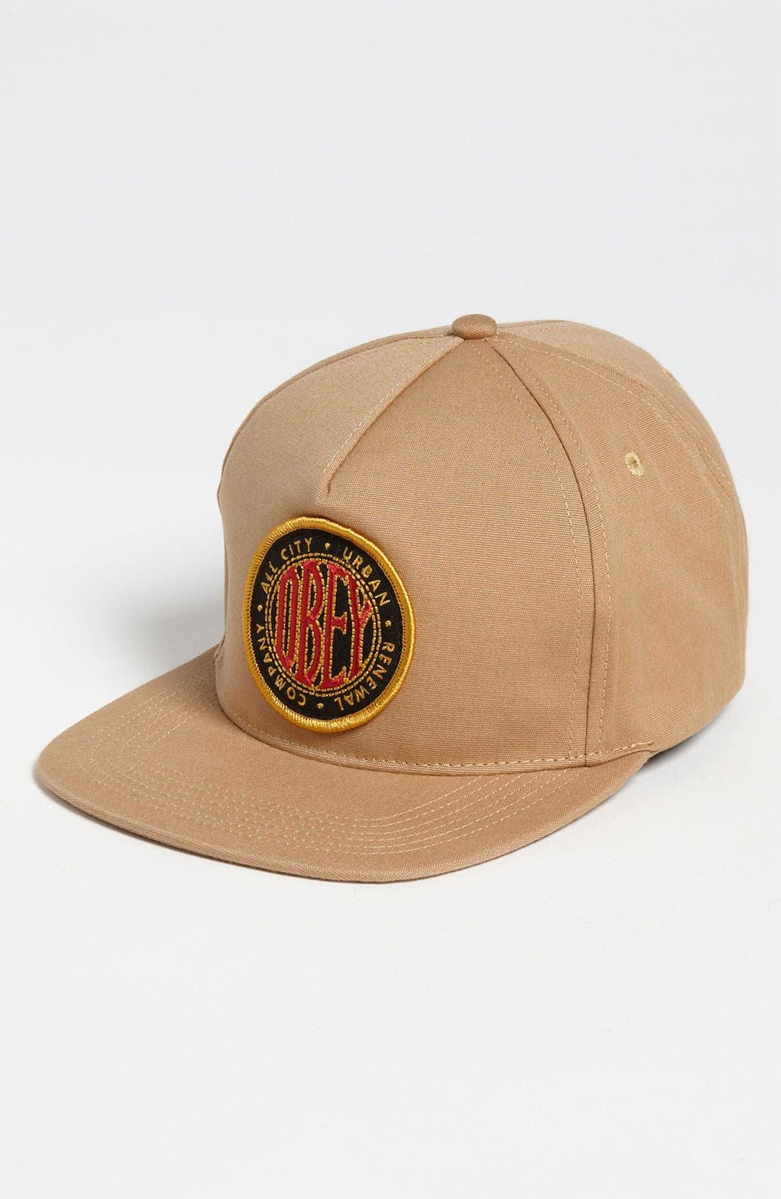 Alternate Image 1 Selected - Obey 'Trademark' Snapback Baseball Cap