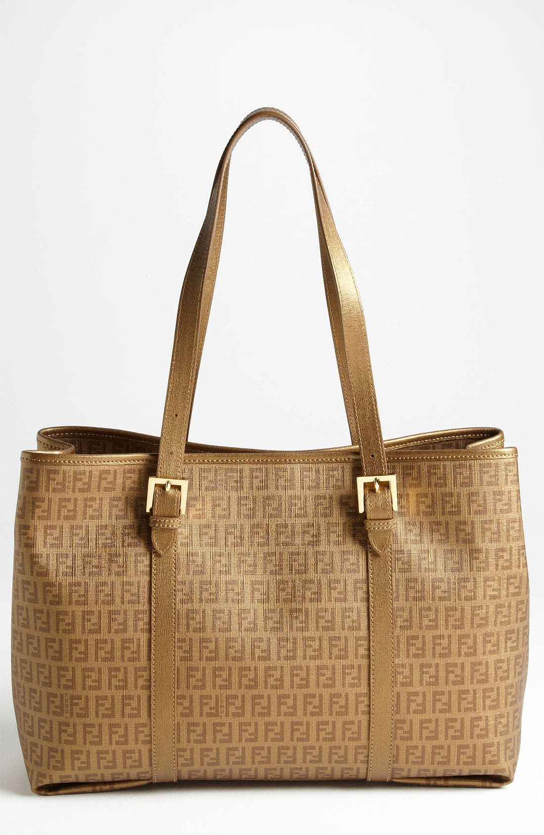 Alternate Image 1 Selected - Fendi 'Forever' Coated Logo Jacquard Shopper