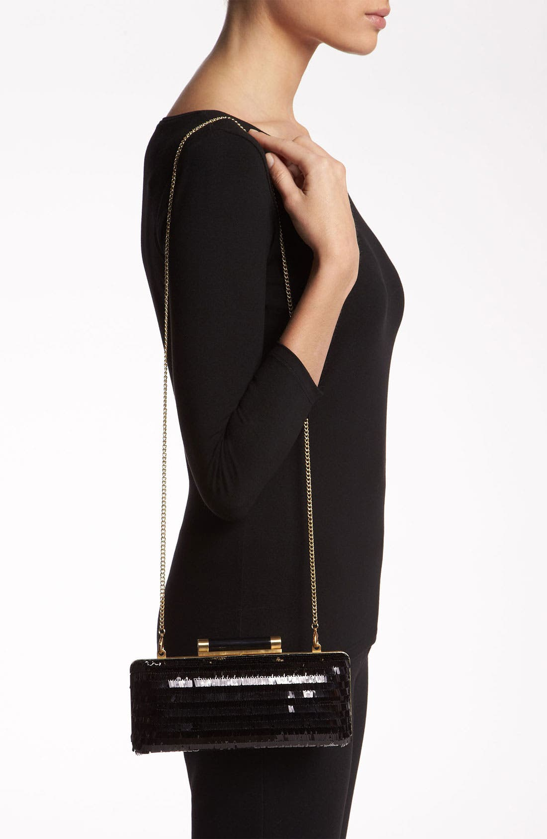 Alternate Image 2  - Diane von Furstenberg 'Tonda - Large' Sequin & Leather Clutch