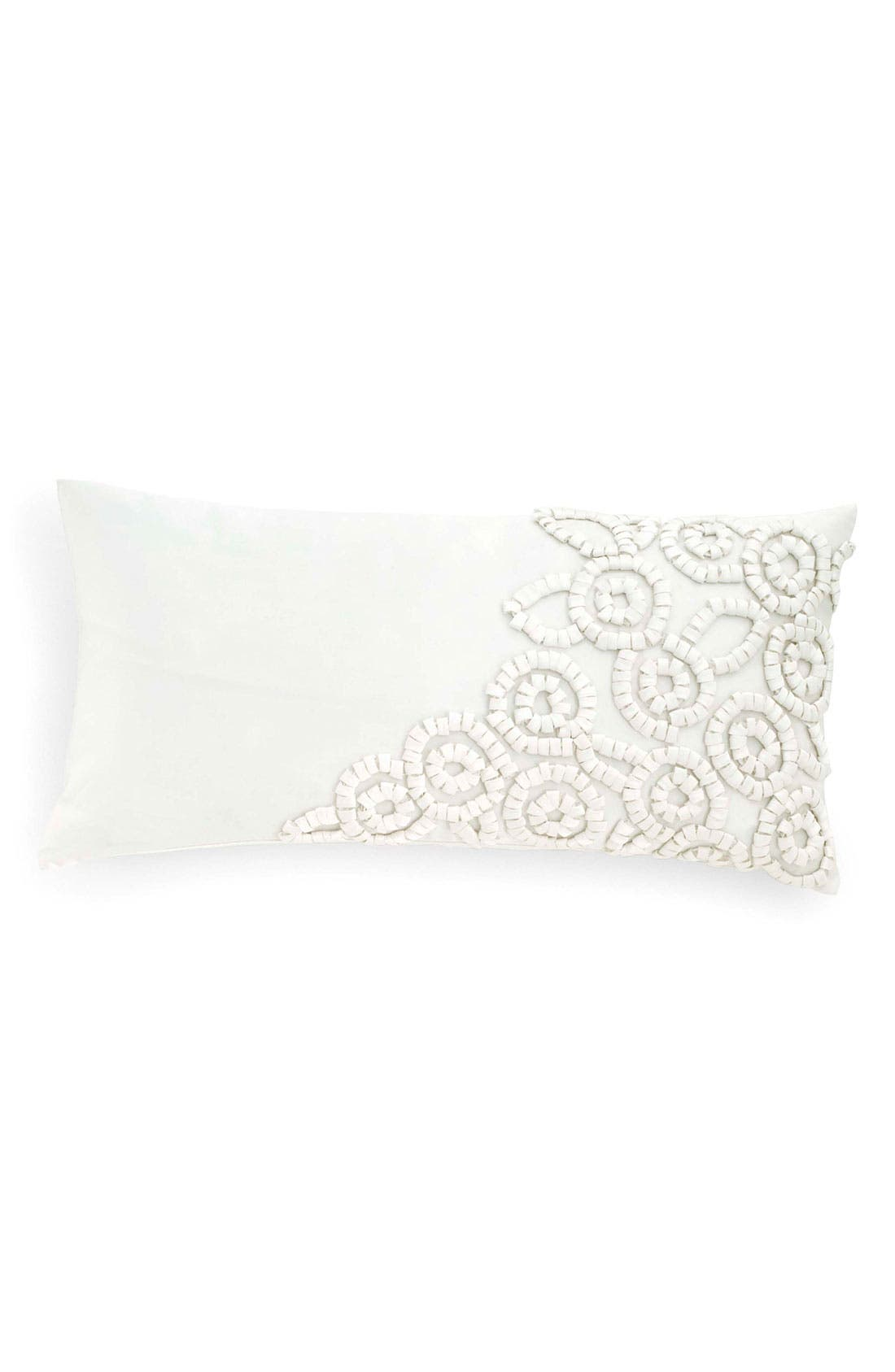 Alternate Image 1 Selected - Donna Karan 'Embroidered Loops' Satin Pillow (Online Only)